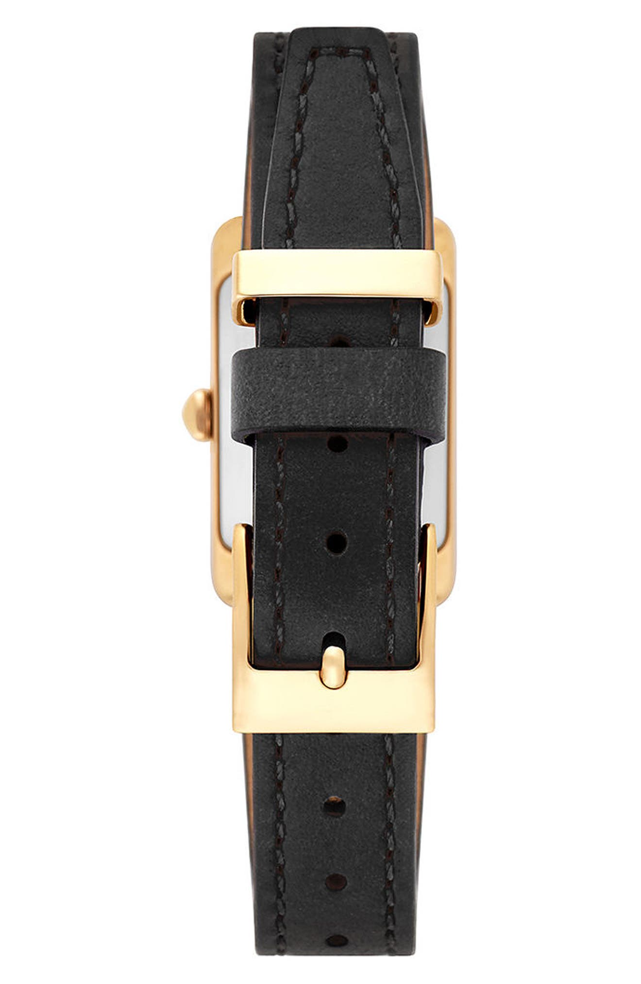 Moment Leather Strap Watch, 19mm x 30mm,                             Alternate thumbnail 2, color,                             001