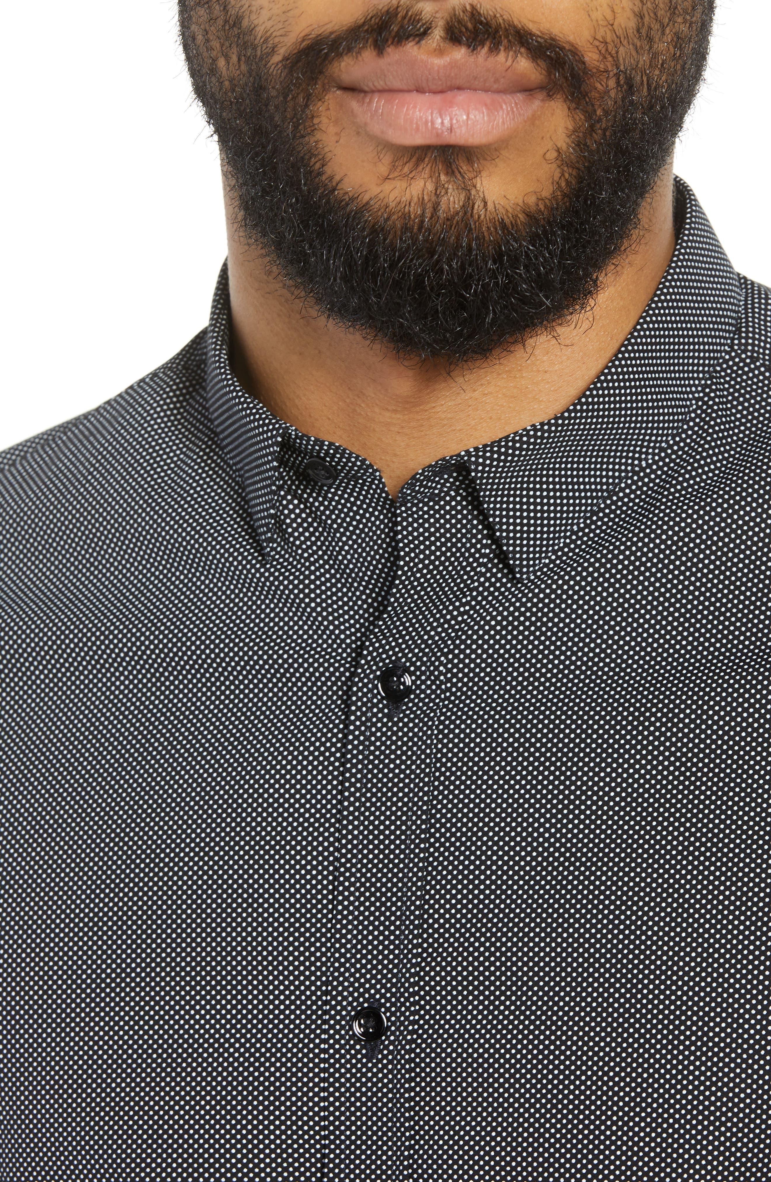 Slim Fit Print Sport Shirt,                             Alternate thumbnail 4, color,                             415