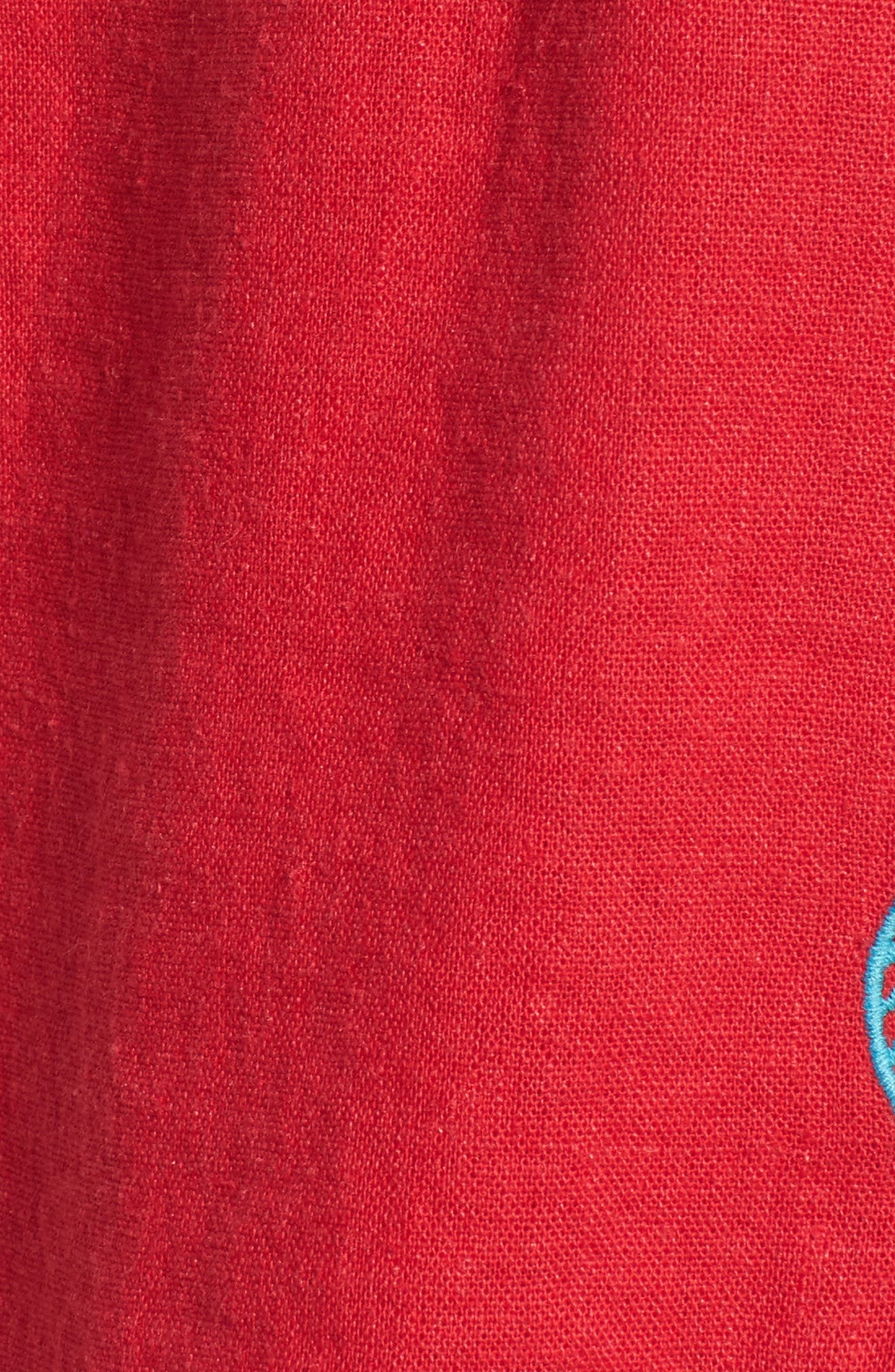 Embroidered Linen Blend Shorts,                             Alternate thumbnail 5, color,                             610