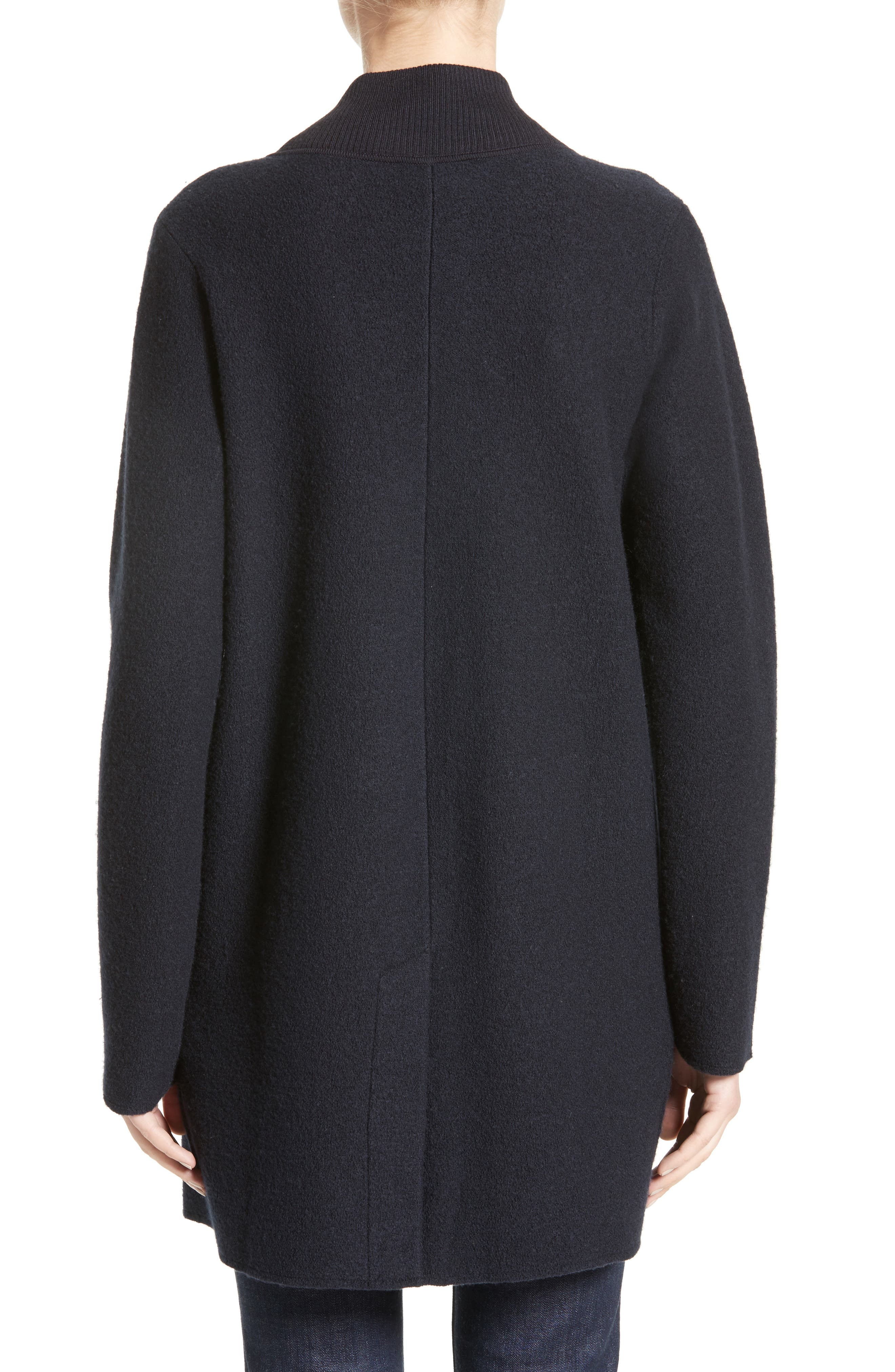 Armani Jeans Single Button Wool Coat,                             Alternate thumbnail 2, color,                             484