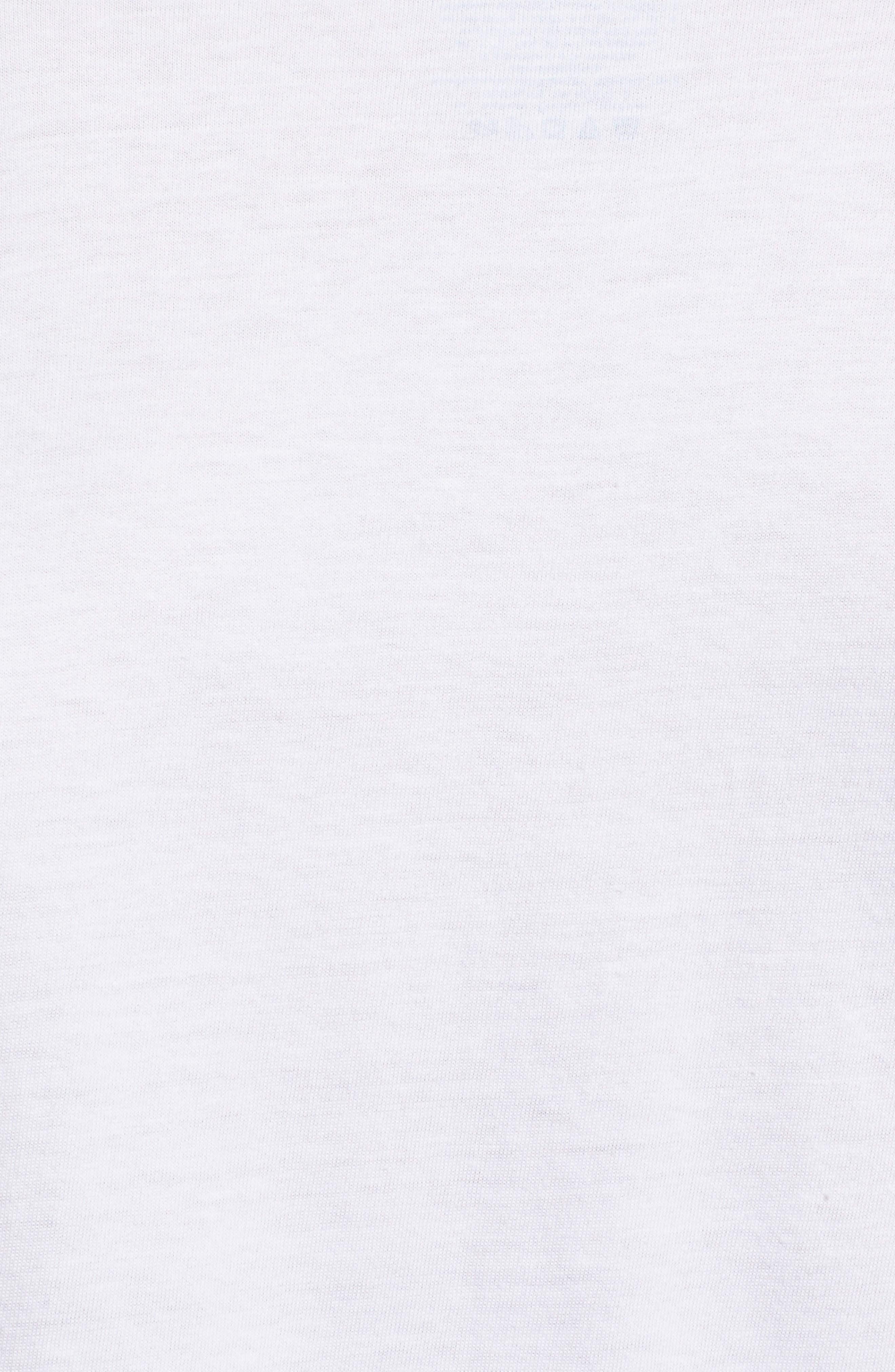 5-Pack V-Neck T-Shirts,                             Alternate thumbnail 4, color,                             100