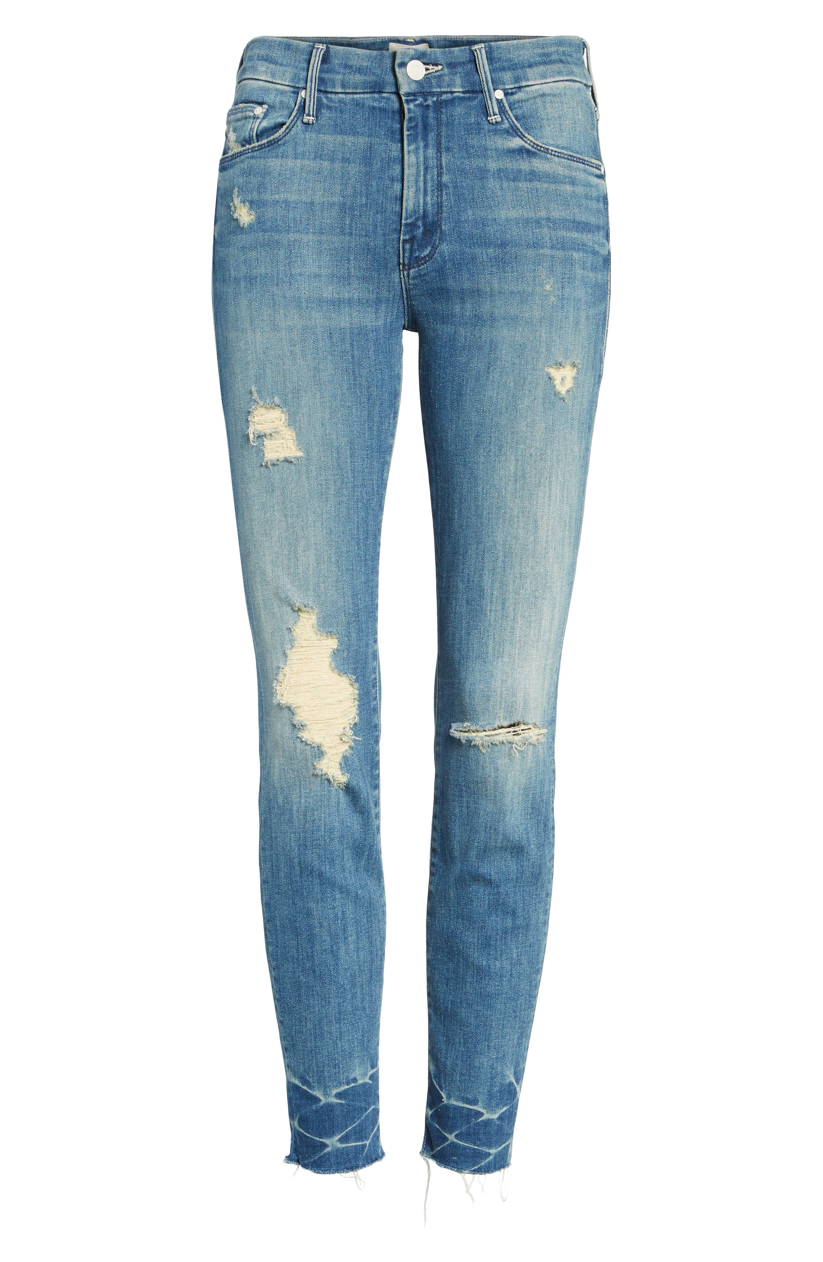 The Looker Frayed Ankle Skinny Jeans,                             Alternate thumbnail 6, color,                             414