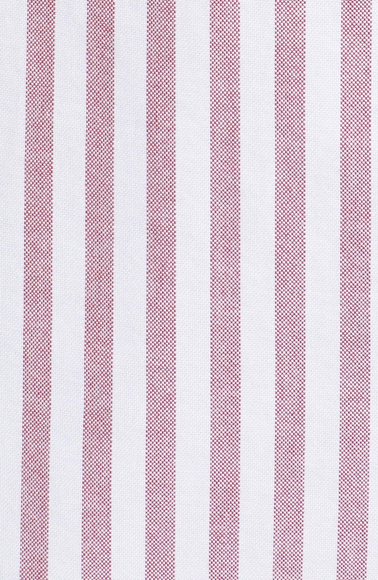 TJW Classics Stripe Shirt,                             Alternate thumbnail 5, color,                             RUMBA RED / BRIGHT WHITE