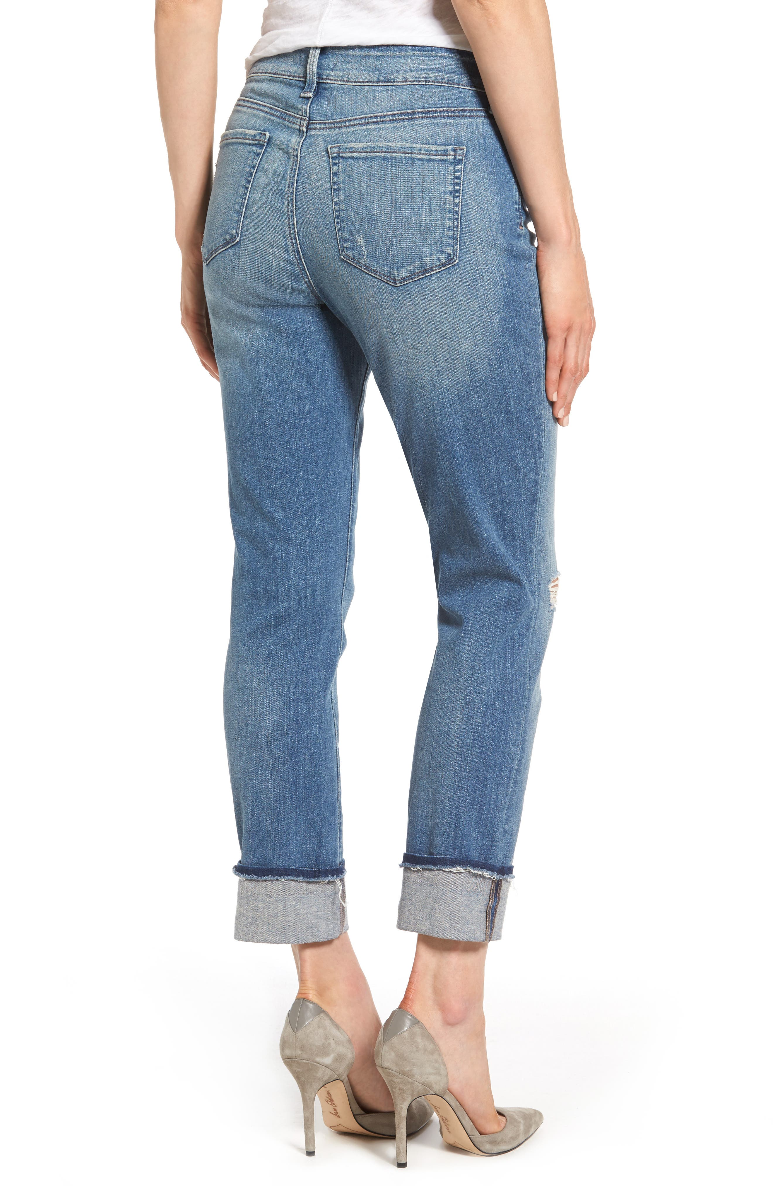 Jessica Distressed Fray Cuff Boyfriend Jeans,                             Alternate thumbnail 2, color,                             471