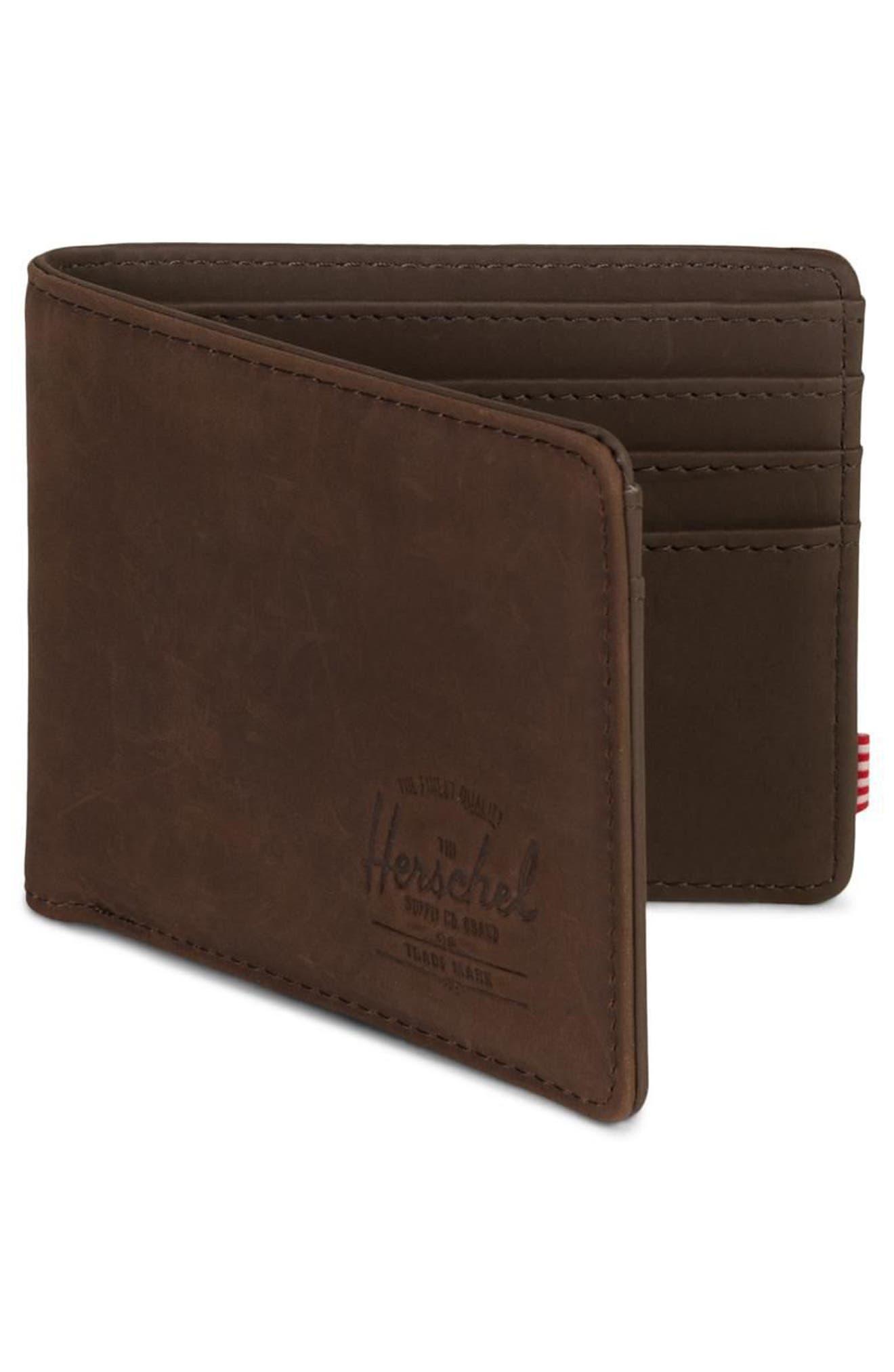 Hank Leather Wallet,                             Alternate thumbnail 3, color,                             NUBUCK BROWN