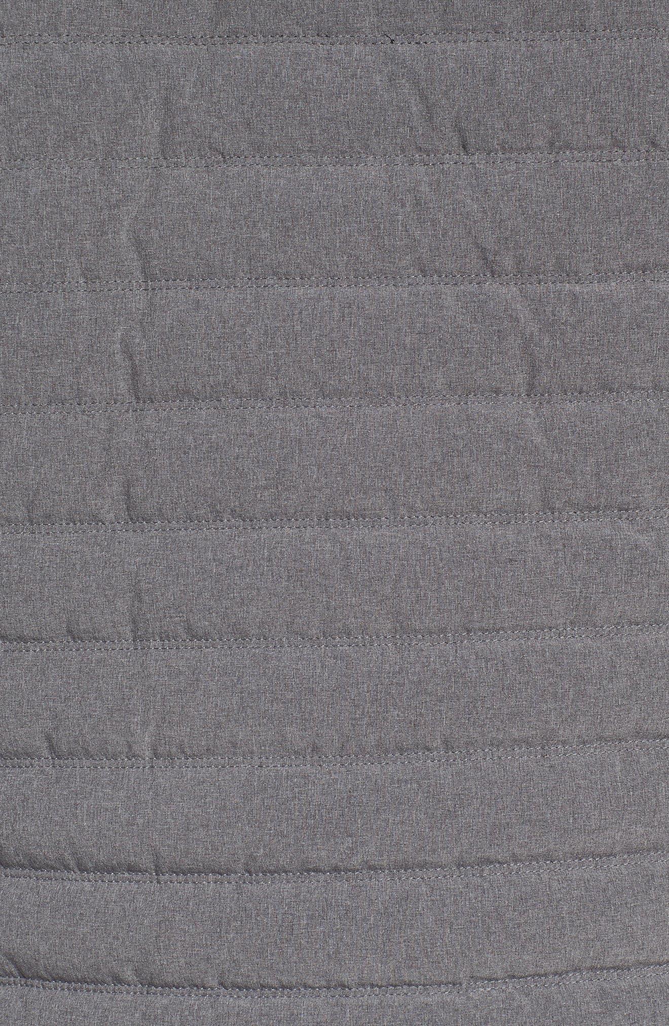 Hooded Water Resistant Down Jacket,                             Alternate thumbnail 6, color,                             BLACK GREY OBSIDIAN