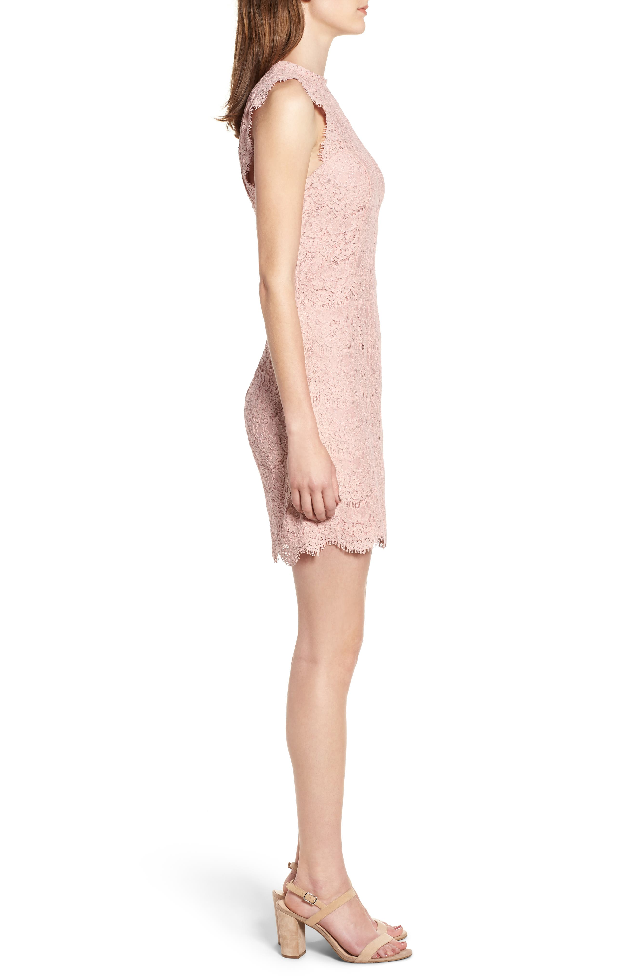 Lace Body-Con Minidress,                             Alternate thumbnail 12, color,