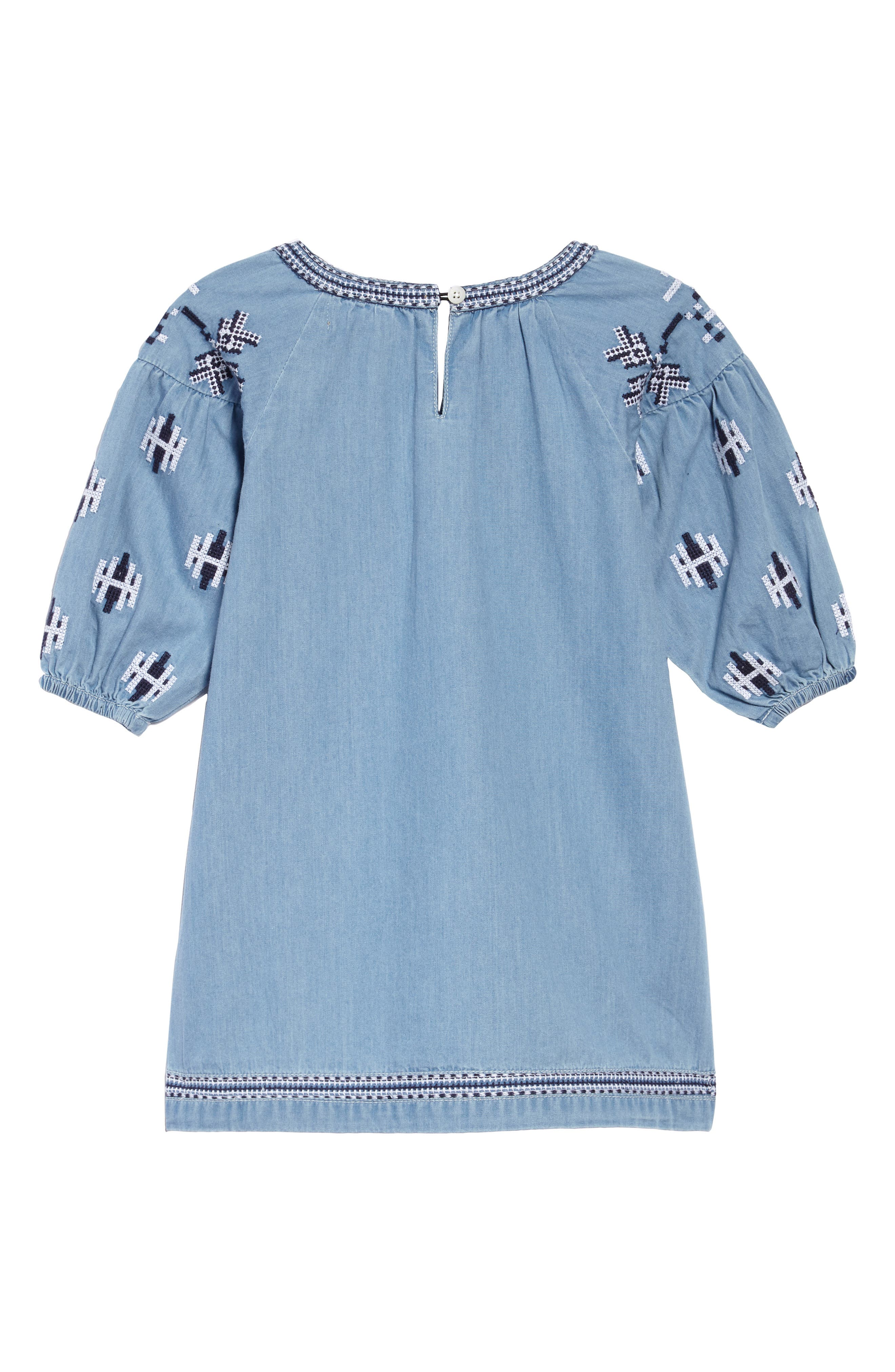 Aubrey Chambray Dress,                             Alternate thumbnail 2, color,                             450