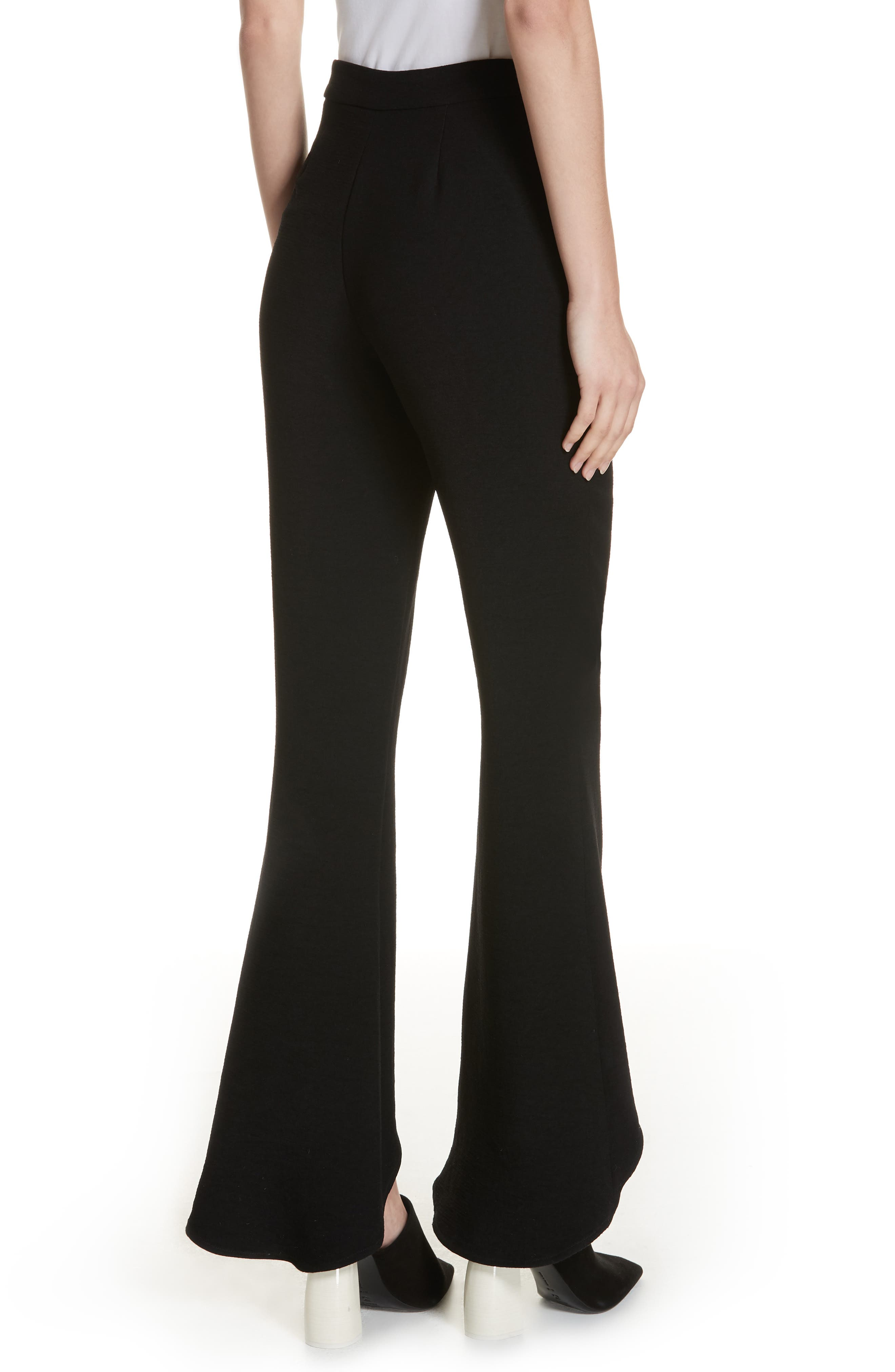The Carmen Flare Pants,                             Alternate thumbnail 2, color,                             BLACK