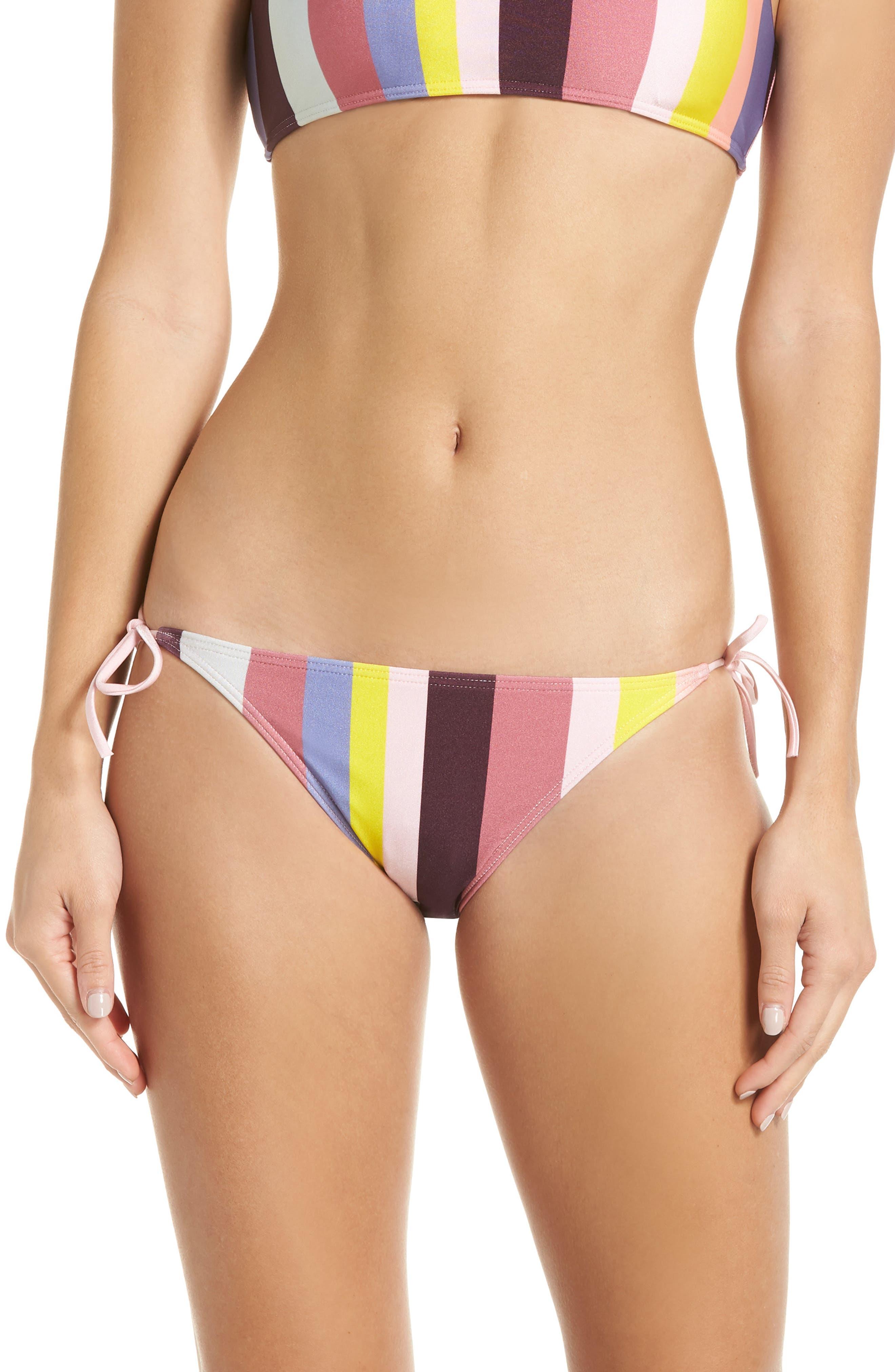 Side Tie Bikini Bottoms,                         Main,                         color, LIGHT PINK
