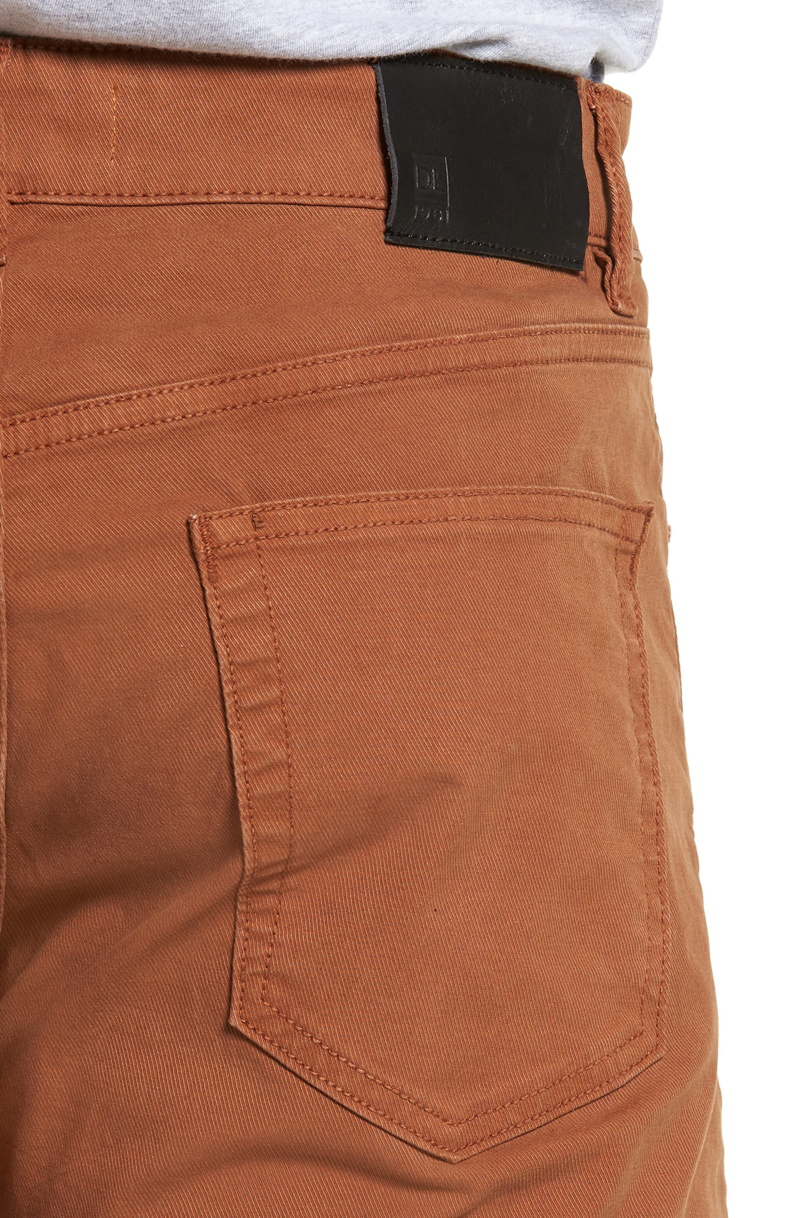 Russell Slim Straight Leg Jeans,                             Alternate thumbnail 4, color,                             TERRACOTTA