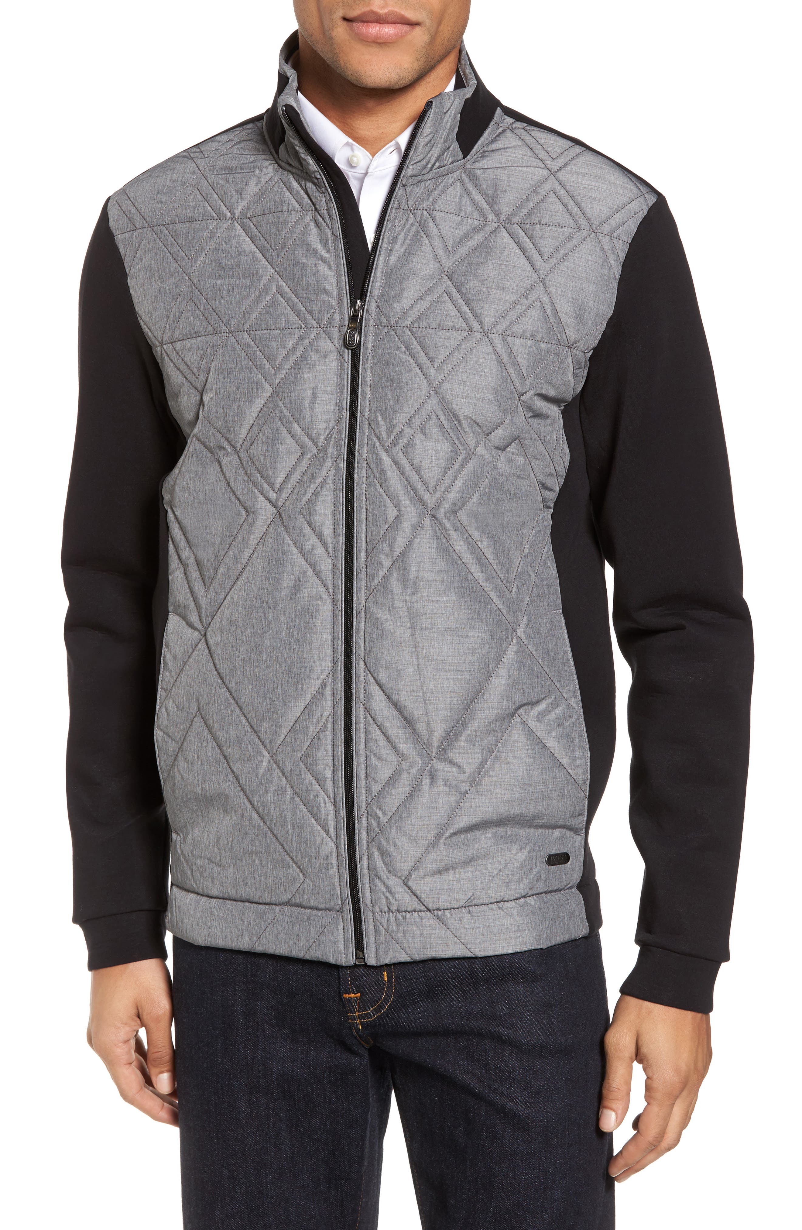 C-Pizzoli Quilted Jacket,                             Main thumbnail 1, color,                             001