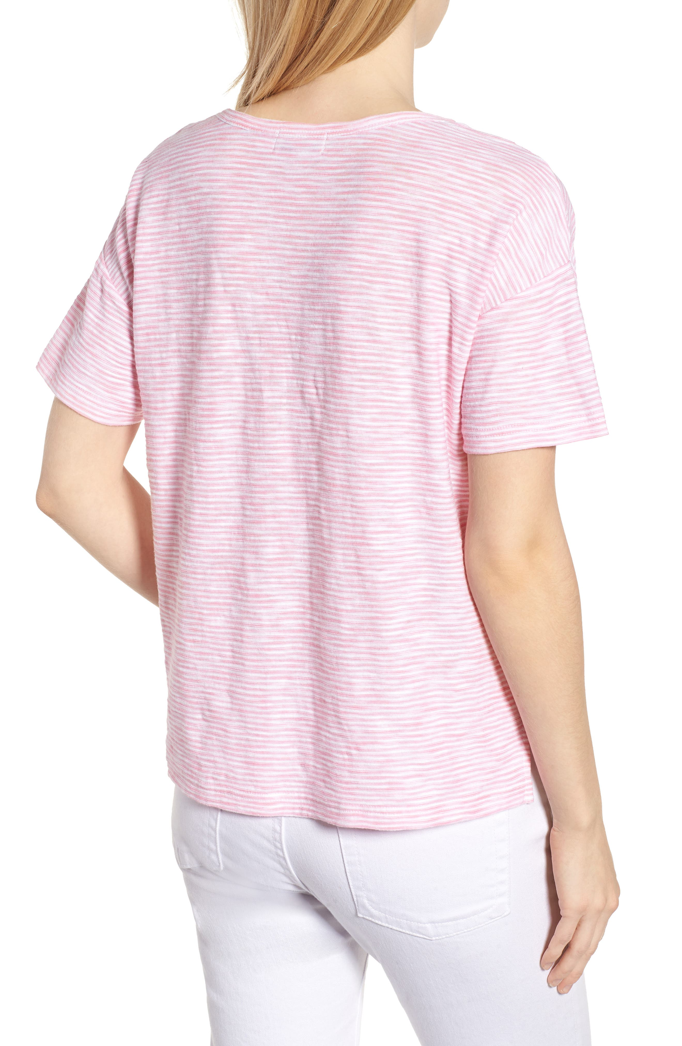 Striped Boxy Tee,                             Alternate thumbnail 2, color,                             654