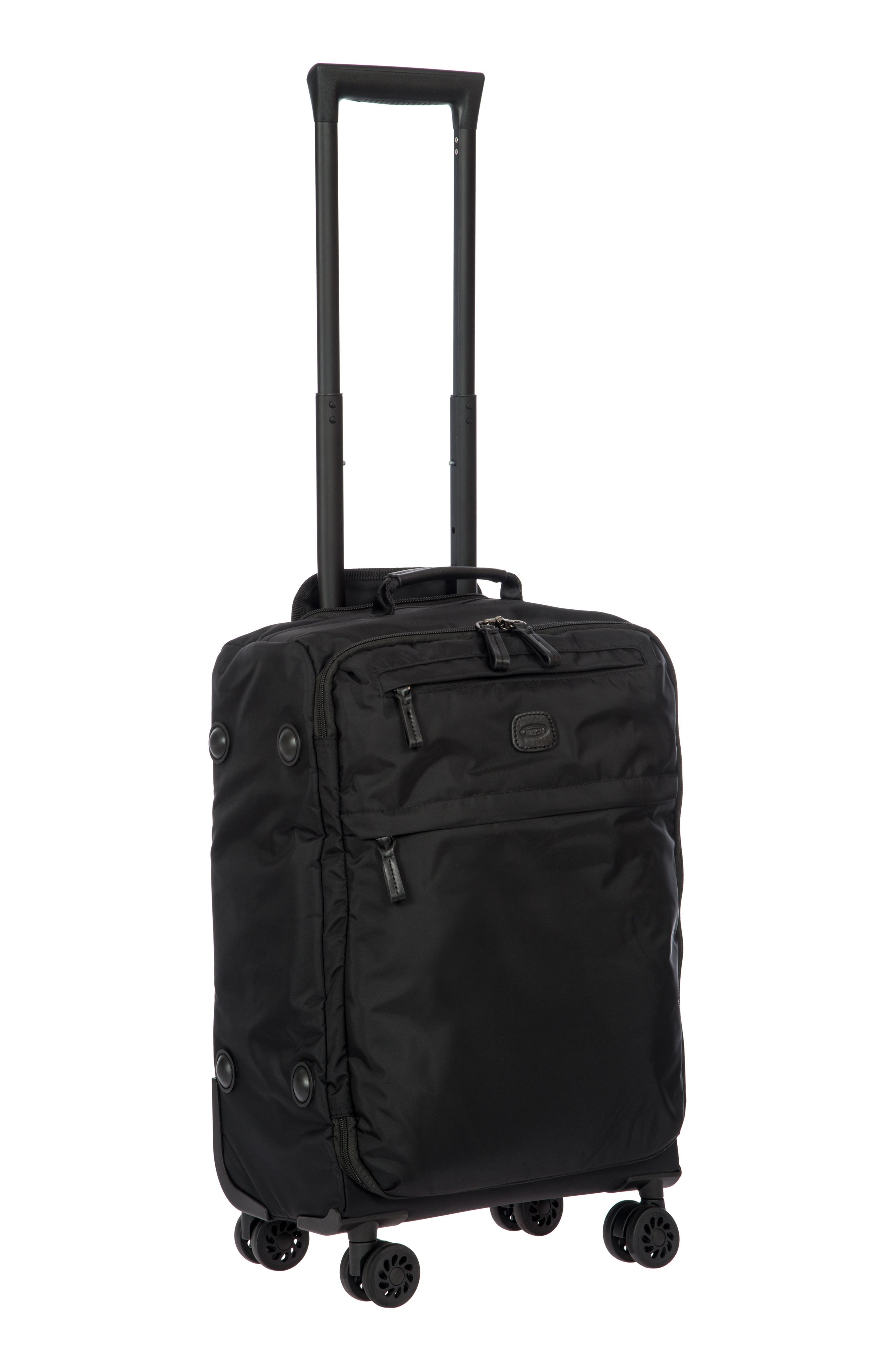 X-Bag 21-Inch Spinner Carry-On,                             Alternate thumbnail 6, color,                             BLACK/ BLACK