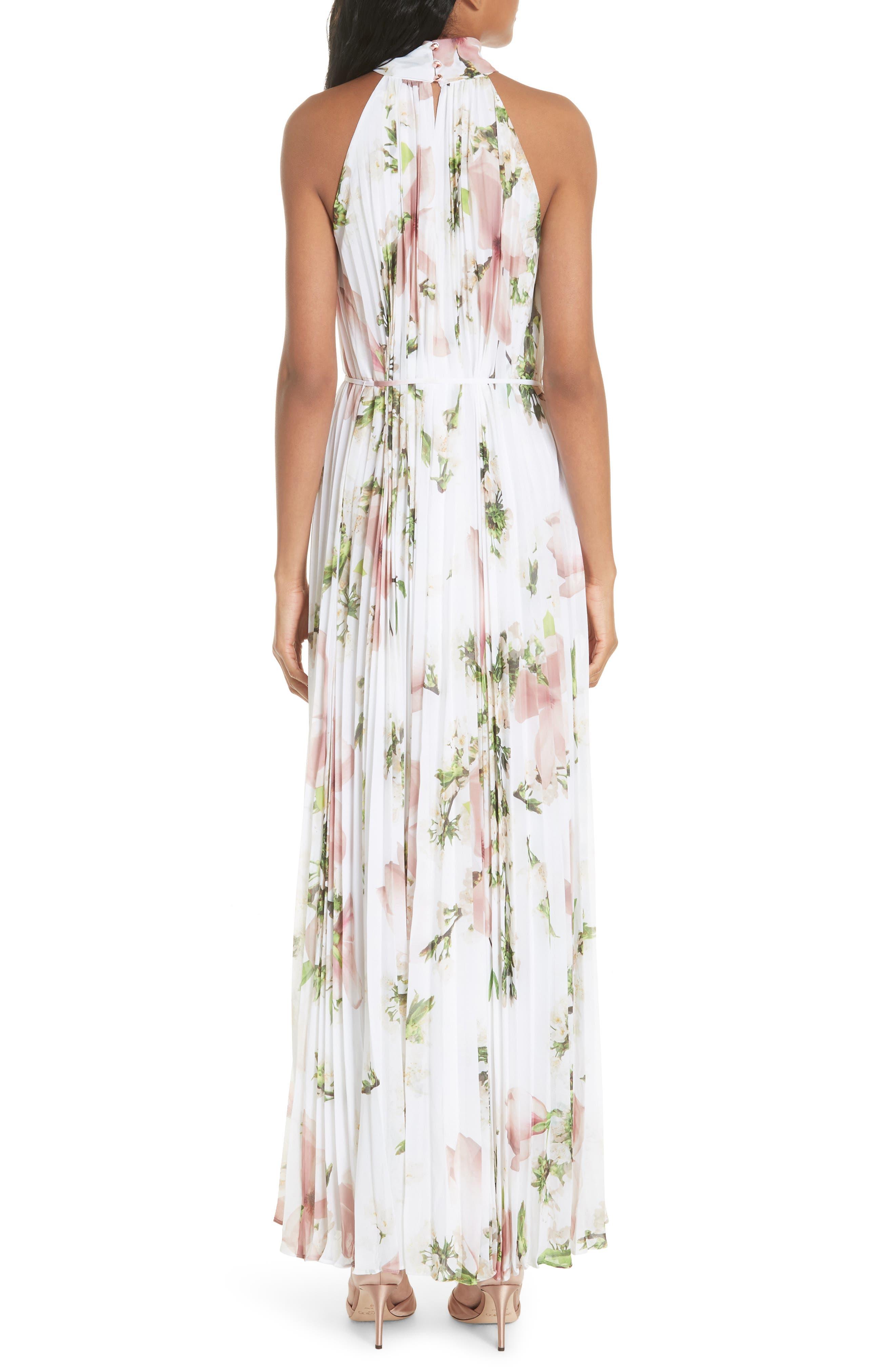 Harmony Pleat Maxi Dress,                             Alternate thumbnail 2, color,                             110