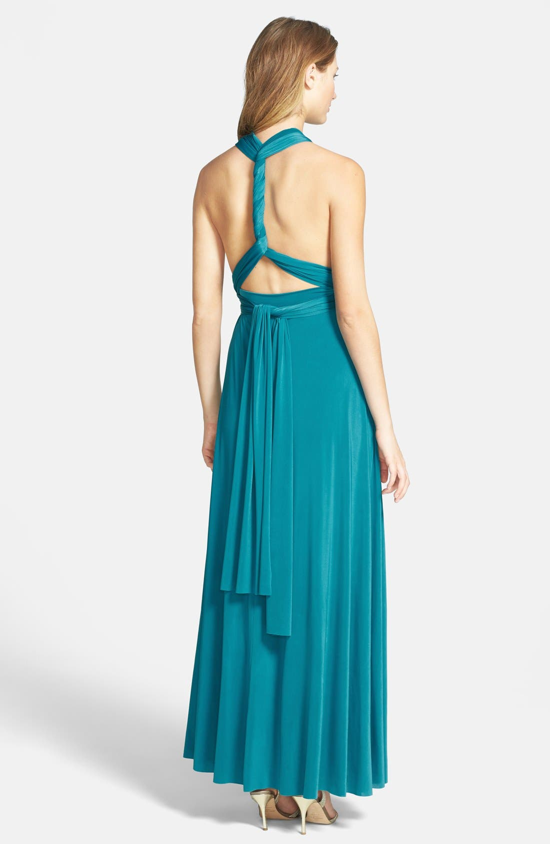 Convertible Wrap Tie Surplice Jersey Gown,                             Alternate thumbnail 17, color,