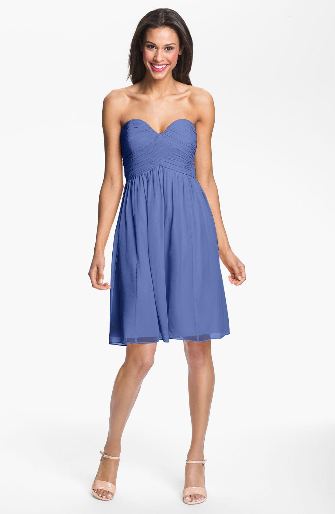 'Morgan' Strapless Silk Chiffon Dress,                             Main thumbnail 19, color,