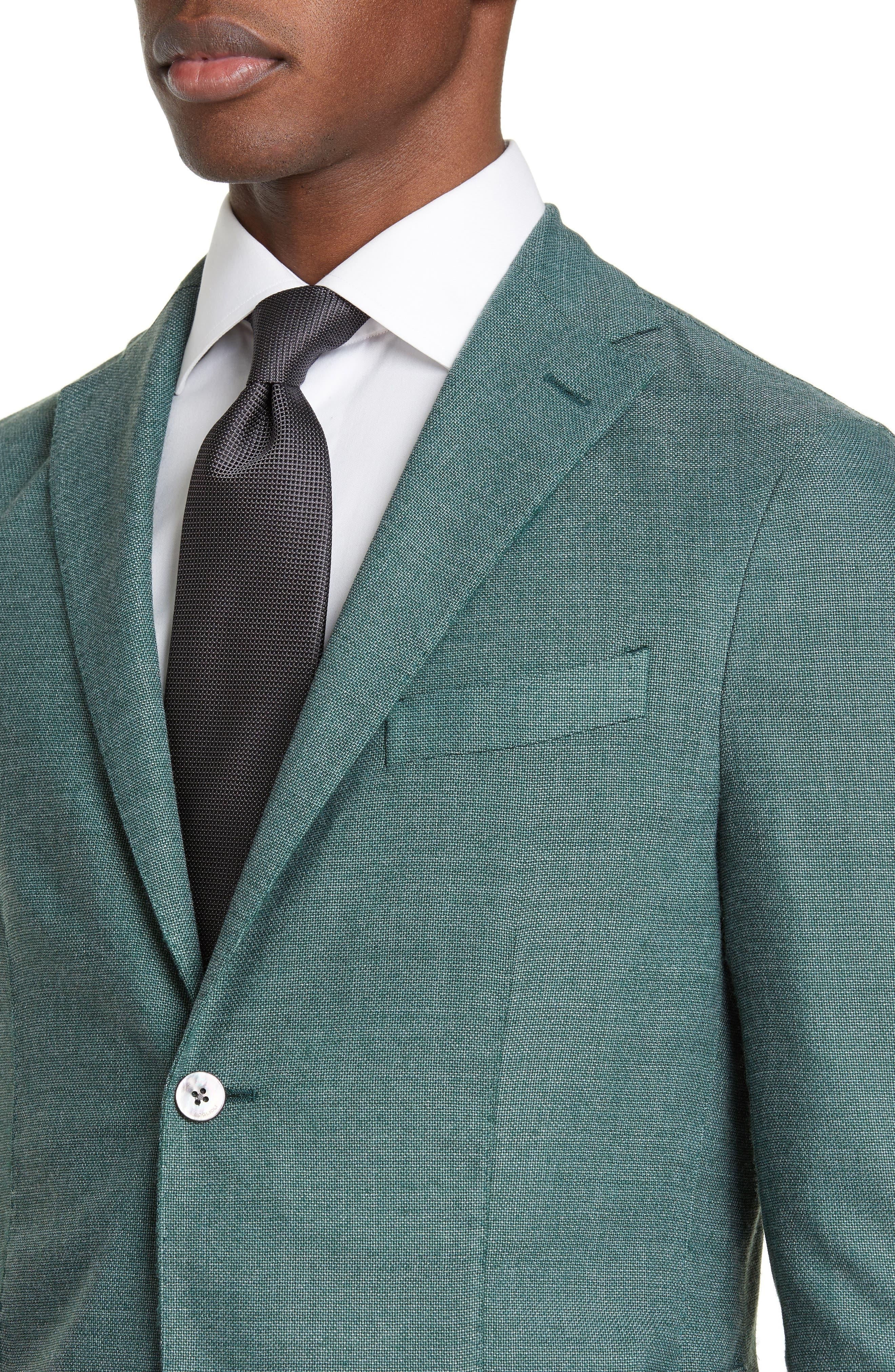 BOGLIOLI,                             Slim Fit Hopsack Wool Blend Sport Coat,                             Alternate thumbnail 4, color,                             FORREST GREEN