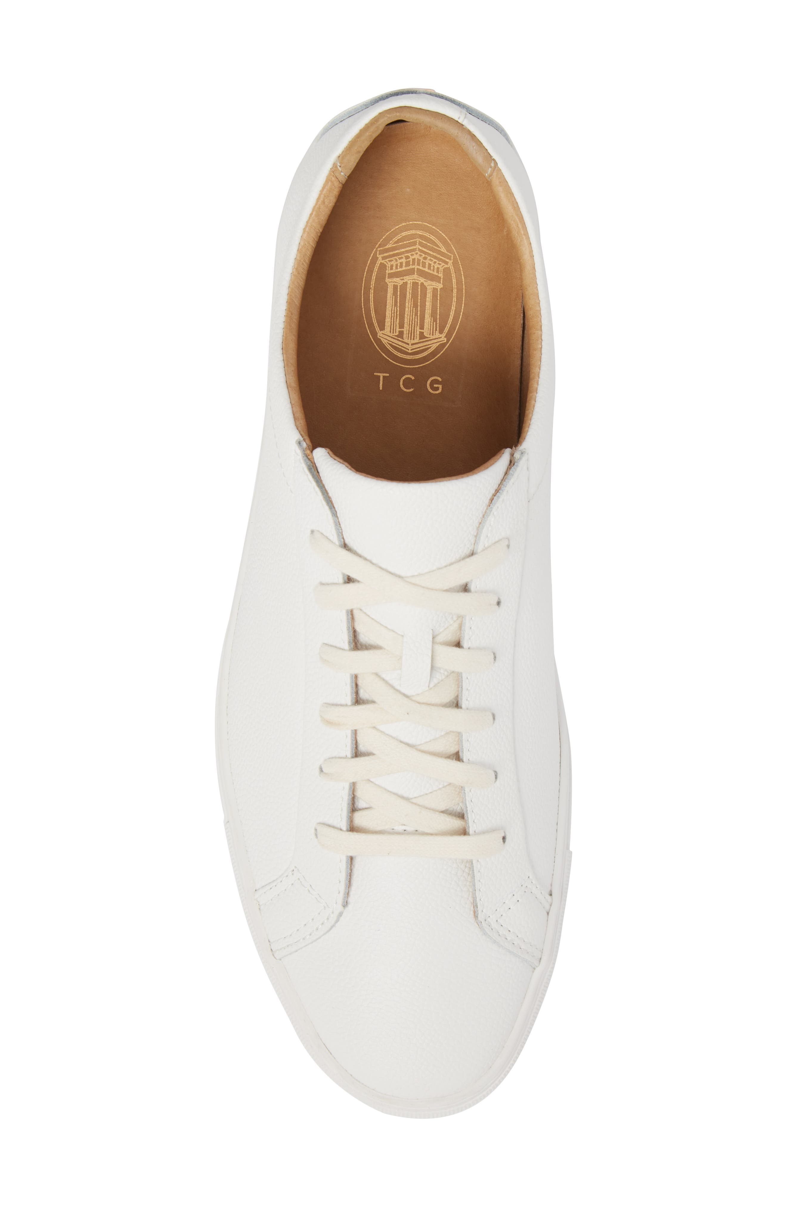 Kennedy Low Top Sneaker,                             Alternate thumbnail 5, color,                             WHITE LEATHER