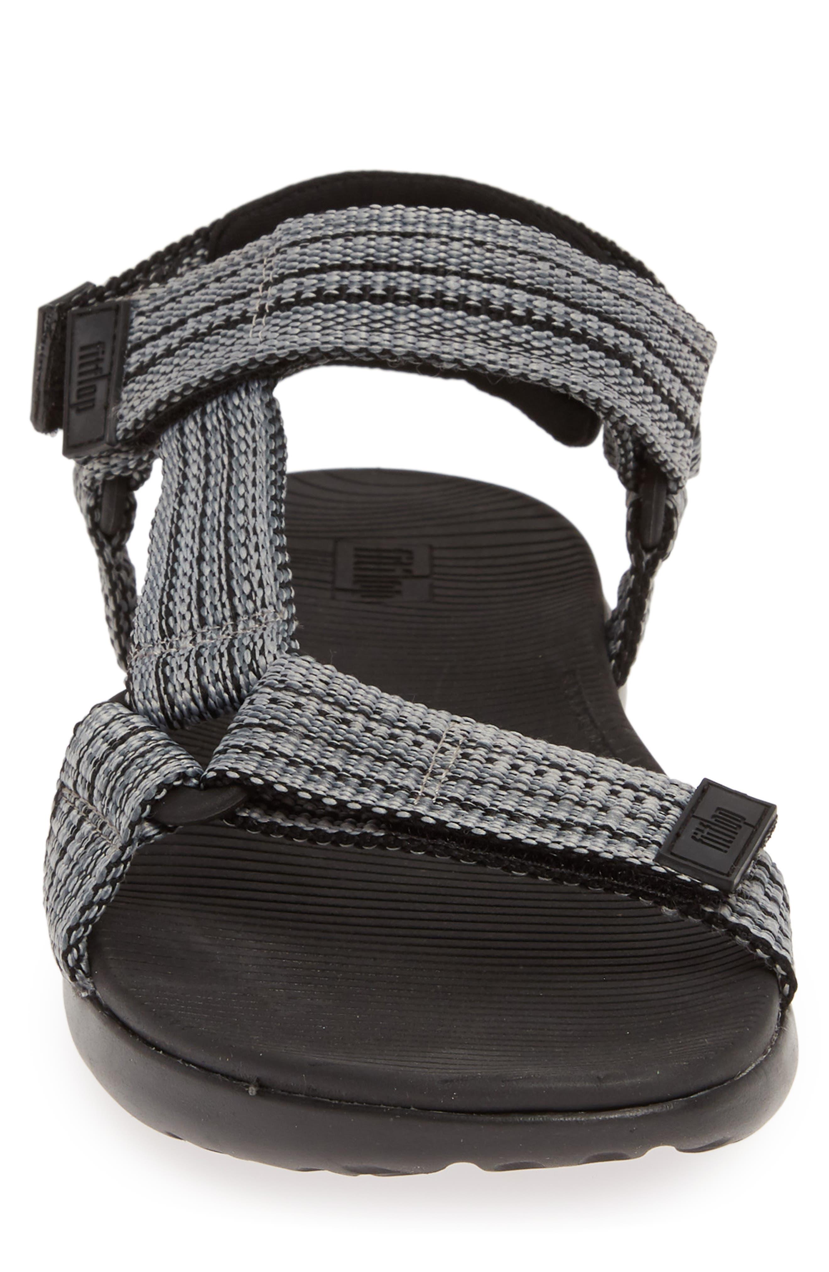 Freshweave Sport Sandal,                             Alternate thumbnail 4, color,                             BLACK KNIT