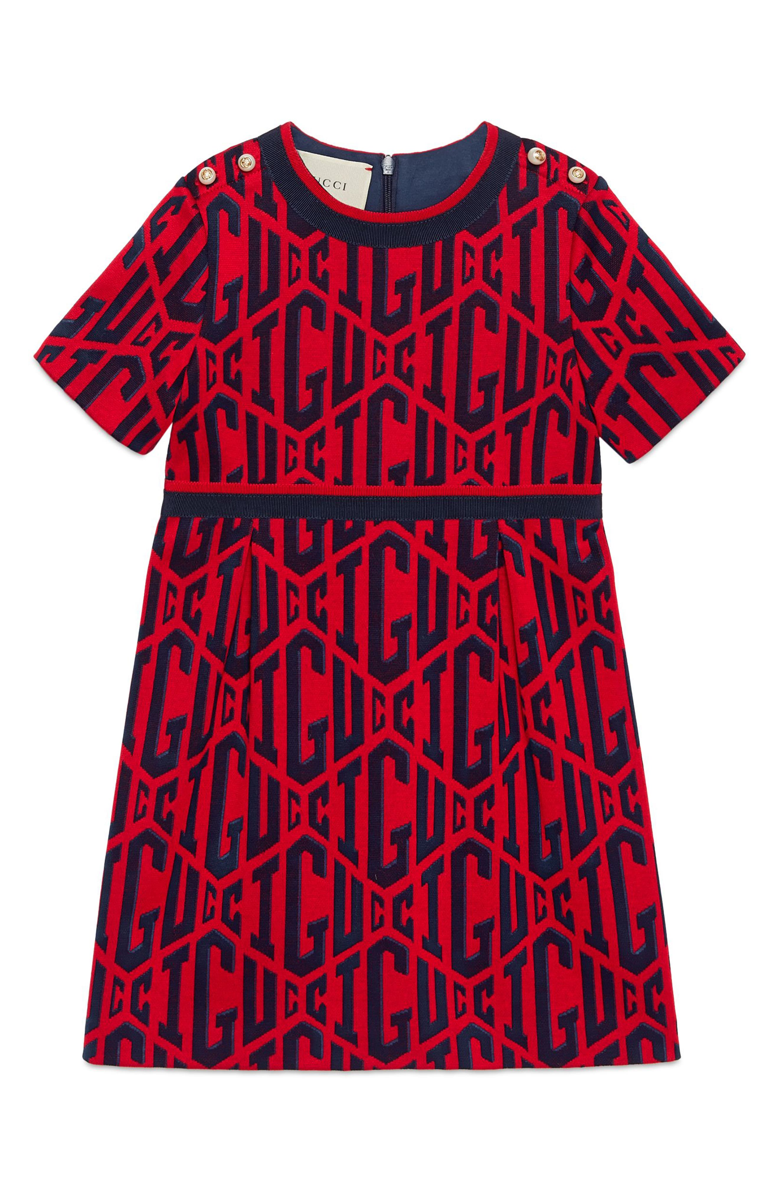 Game Cotton Dress,                         Main,                         color, FLARE/ INK