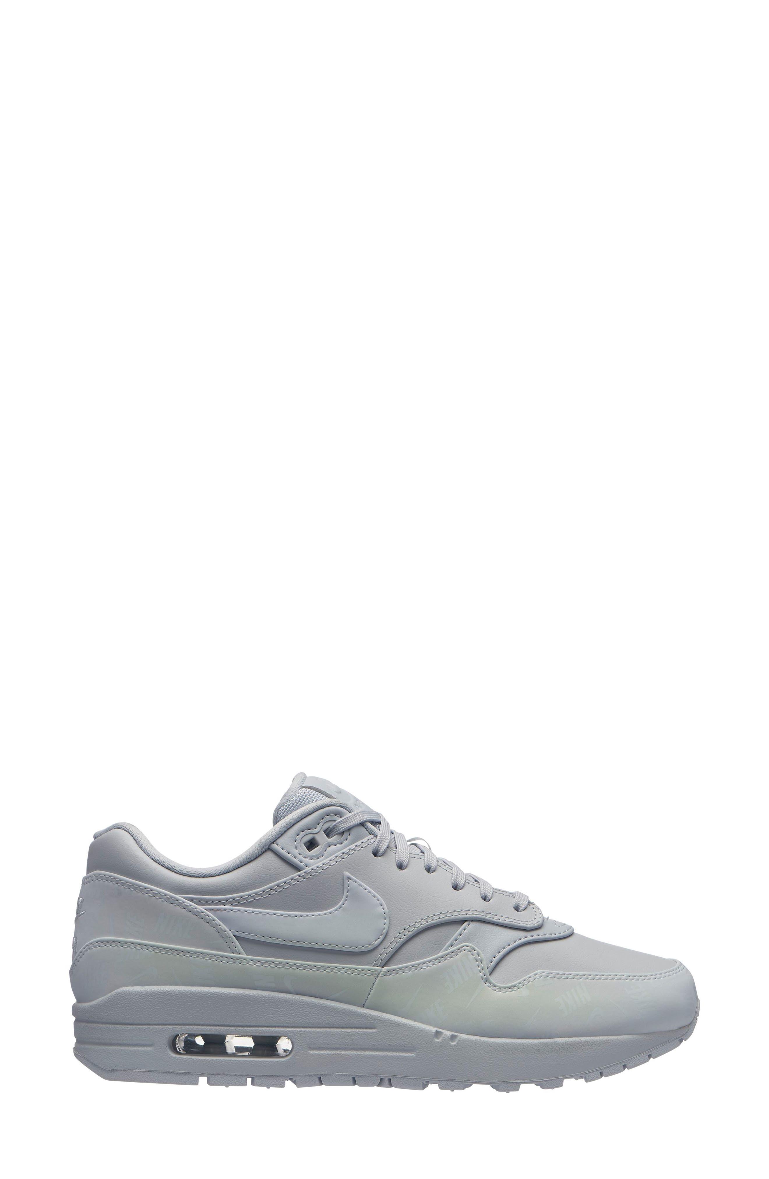 Air Max 1 Lux Sneaker,                             Main thumbnail 1, color,                             PURE PLATINUM/ PURE PLATINUM