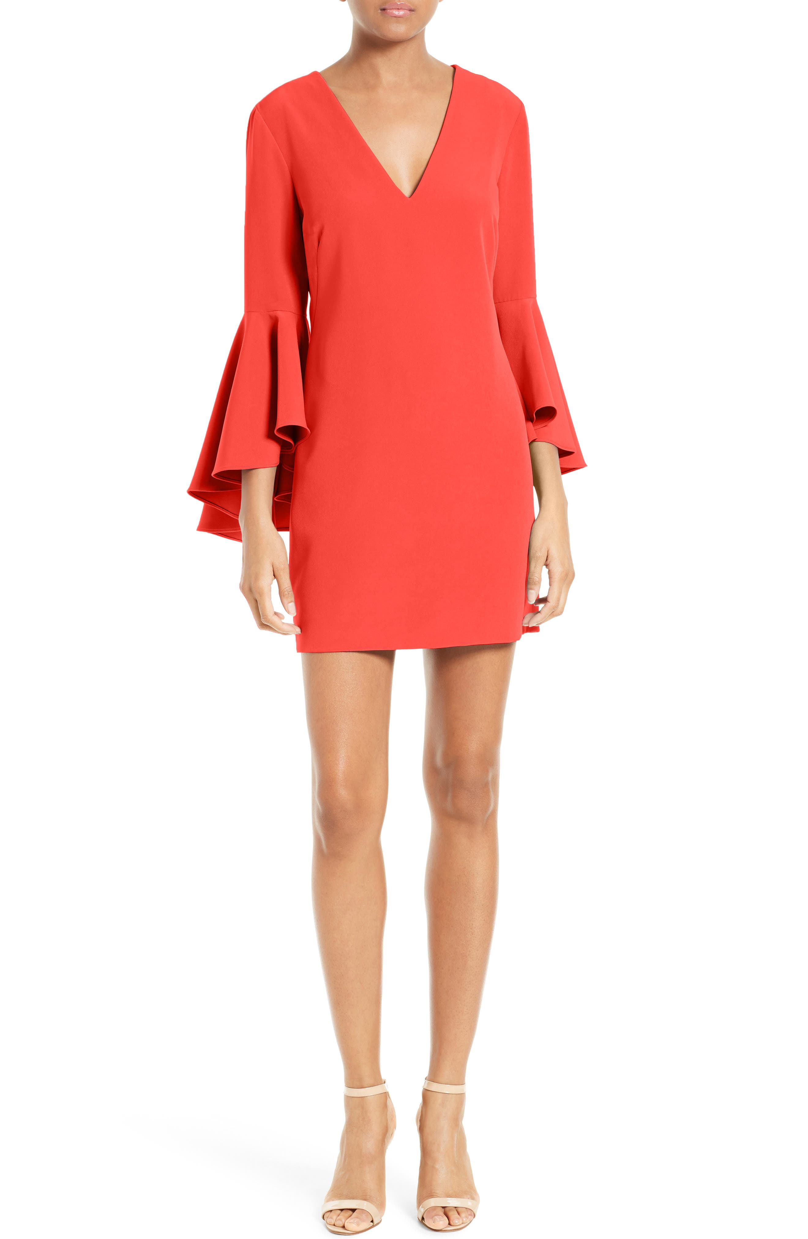 Nicole Bell Sleeve Dress,                             Main thumbnail 11, color,