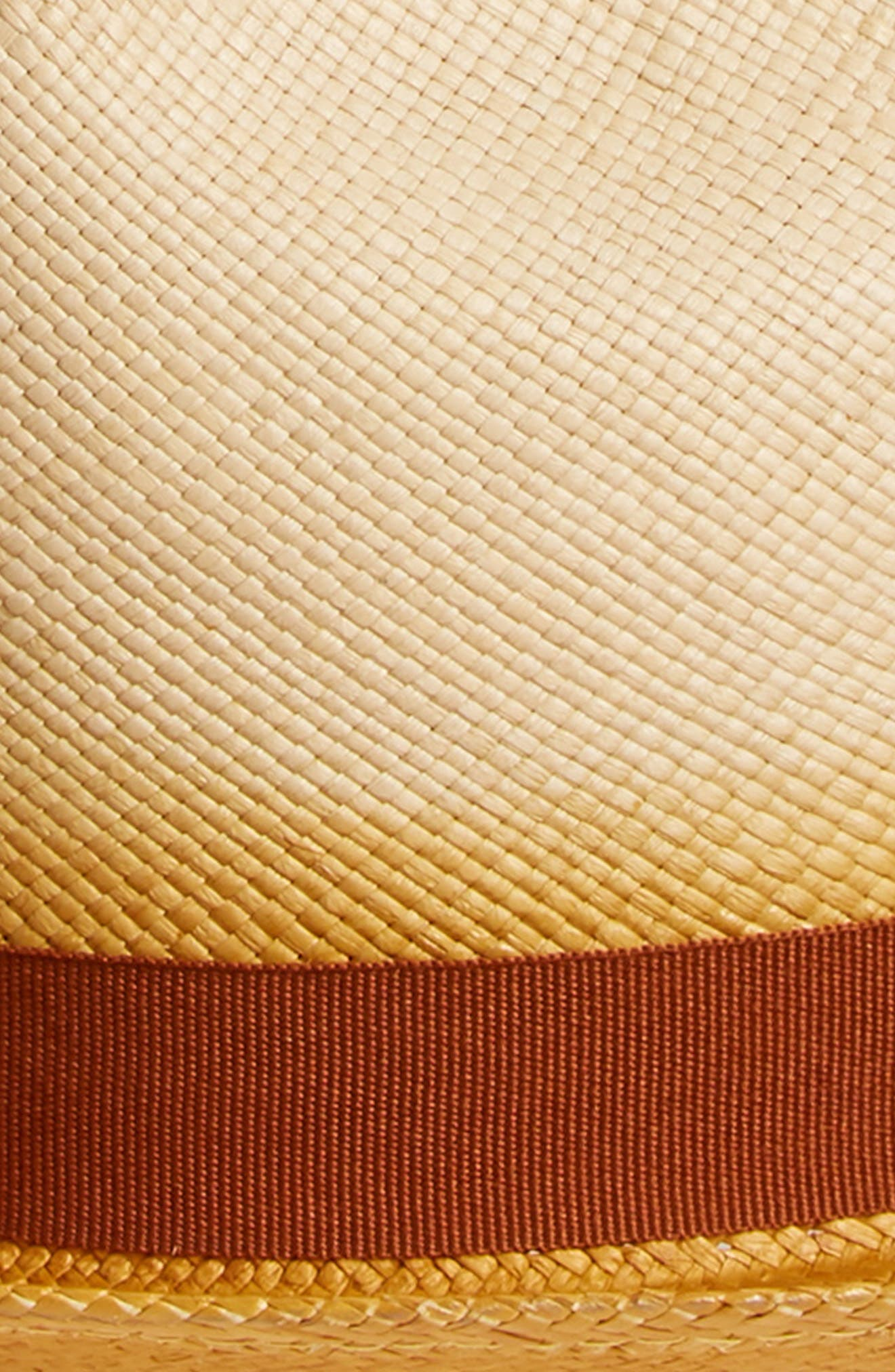 Panama Straw Fedora,                             Alternate thumbnail 2, color,                             CEDAR