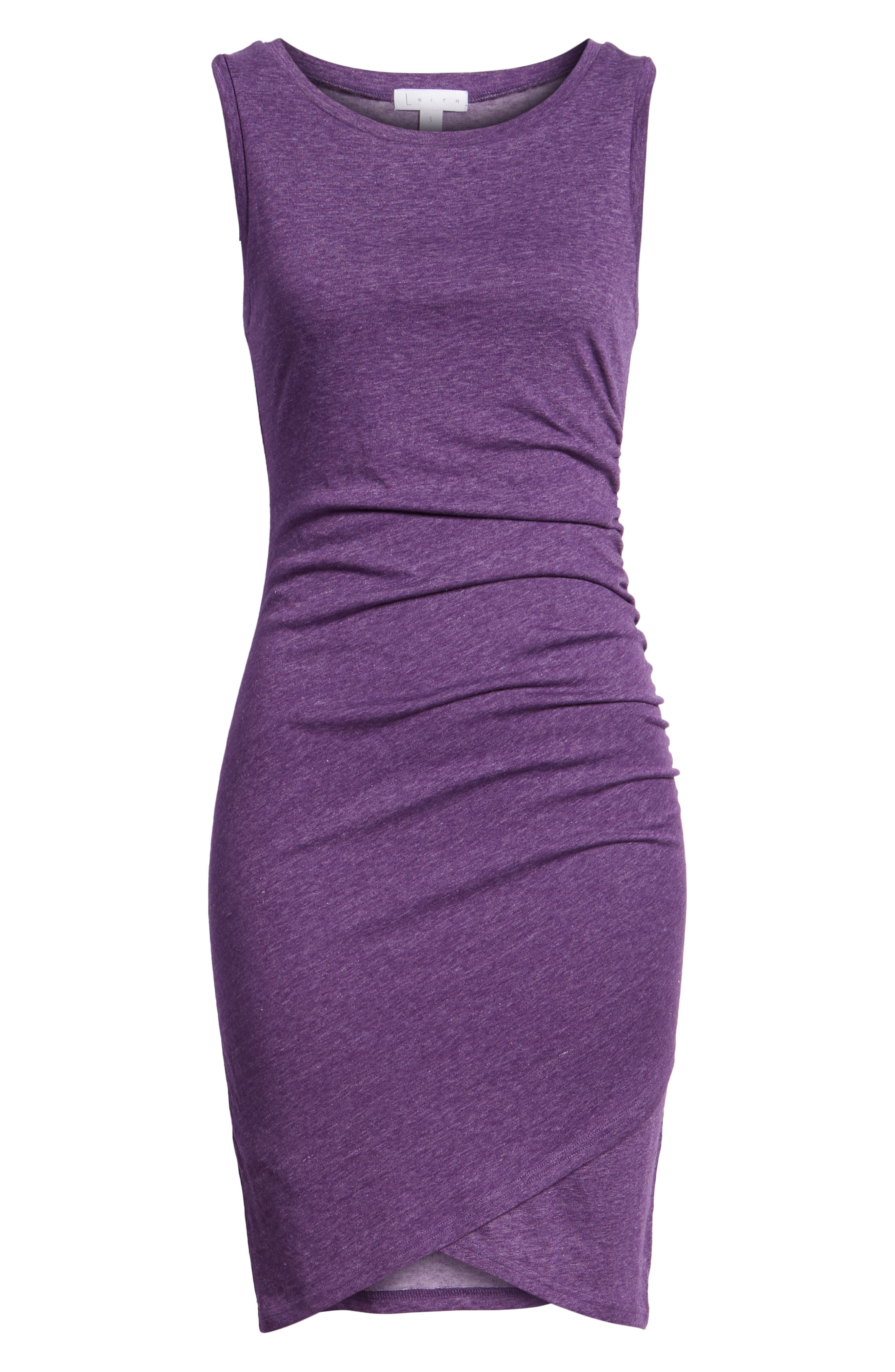 Ruched Body-Con Tank Dress,                             Alternate thumbnail 171, color,