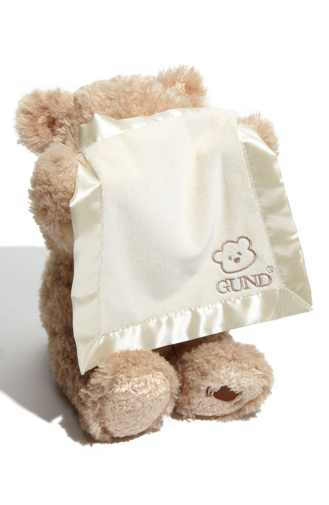 Baby Gund 'Peekaboo' Bear,                             Alternate thumbnail 4, color,                             NO COLOR