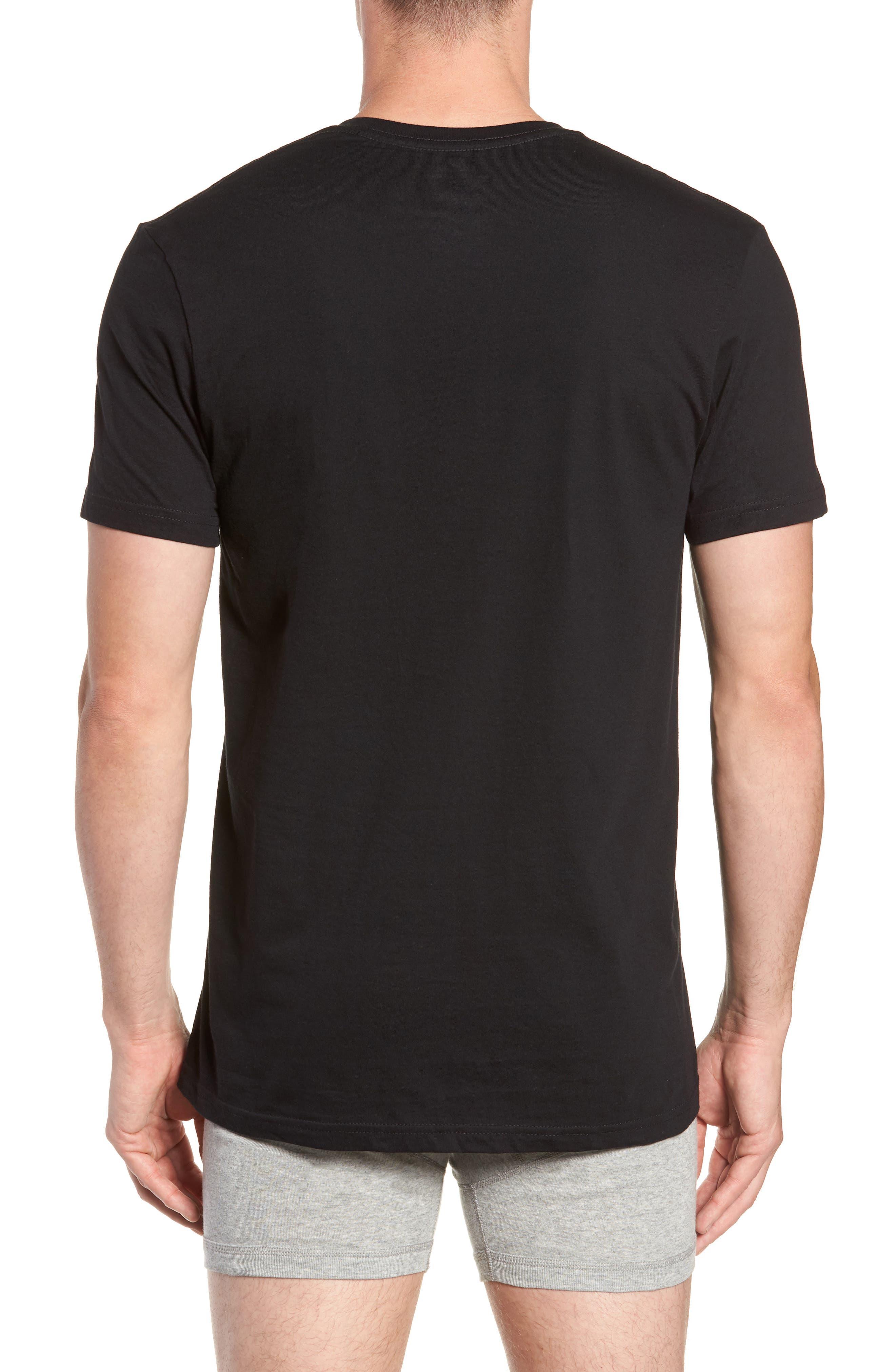 Polo Ralph Lauren 3-Pack V-Neck T-Shirts,                             Alternate thumbnail 3, color,                             POLO BLACK