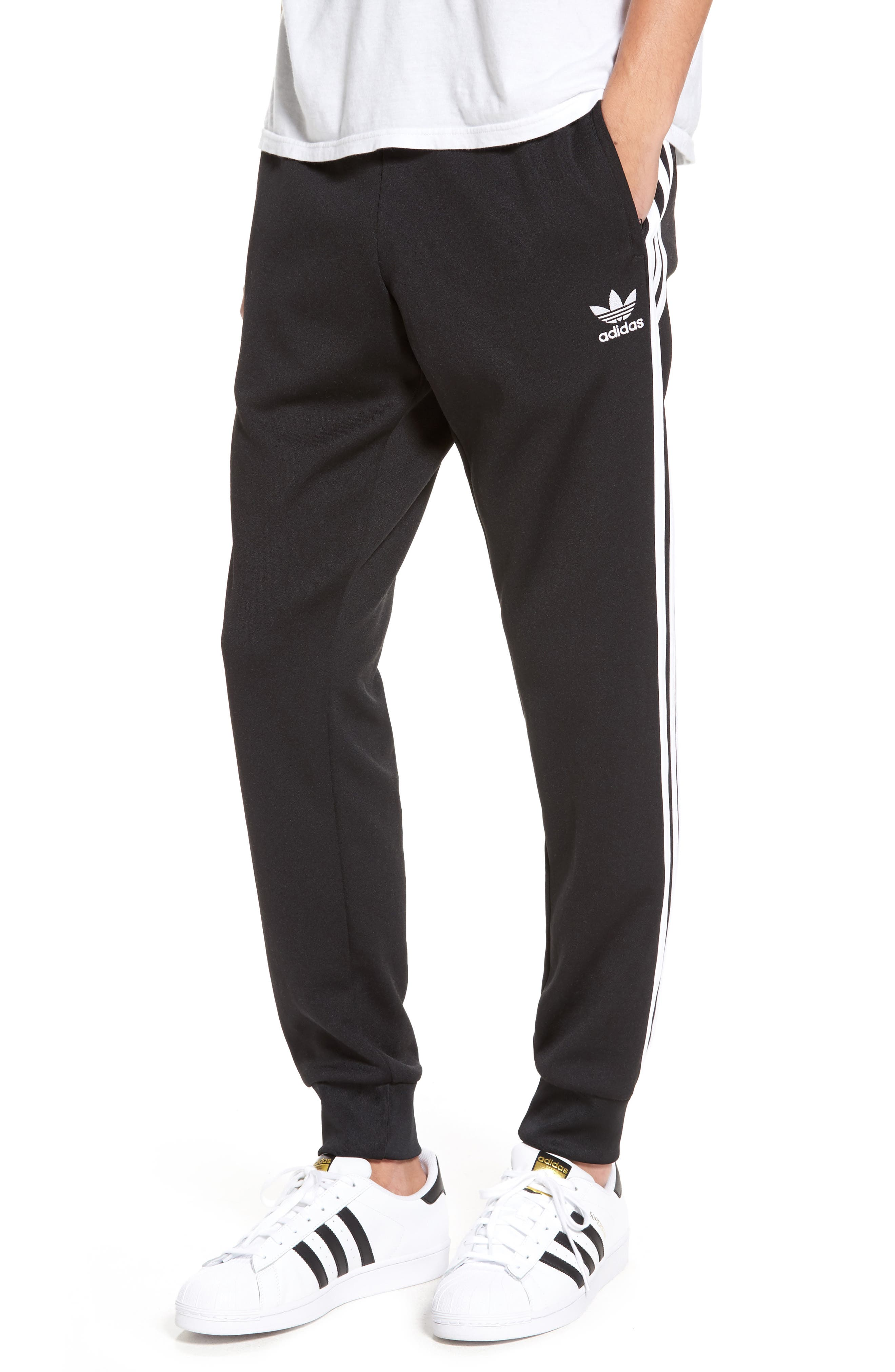 'Superstar' Track Pants,                             Main thumbnail 1, color,                             001
