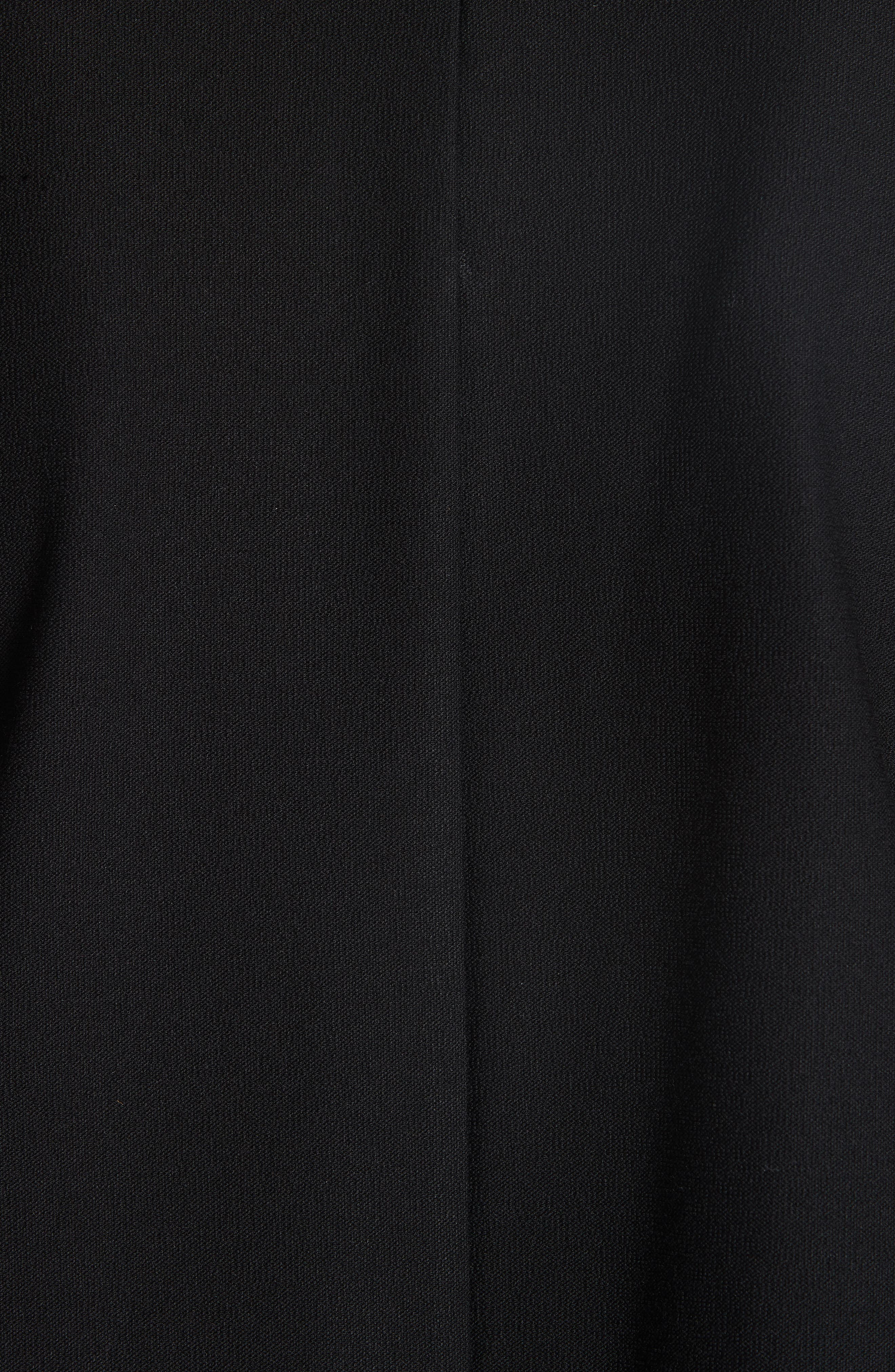 Classic Notch Collar Jacket,                             Alternate thumbnail 6, color,                             BLACK