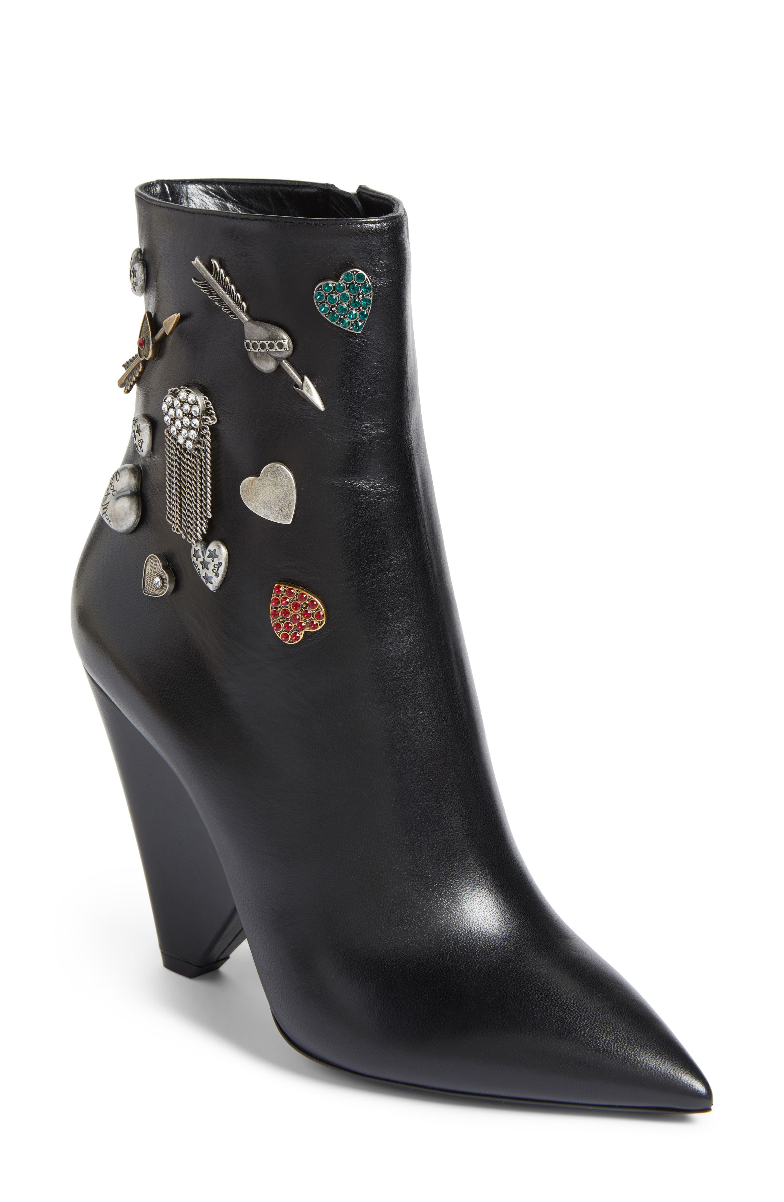 Charm Bootie,                         Main,                         color, 001