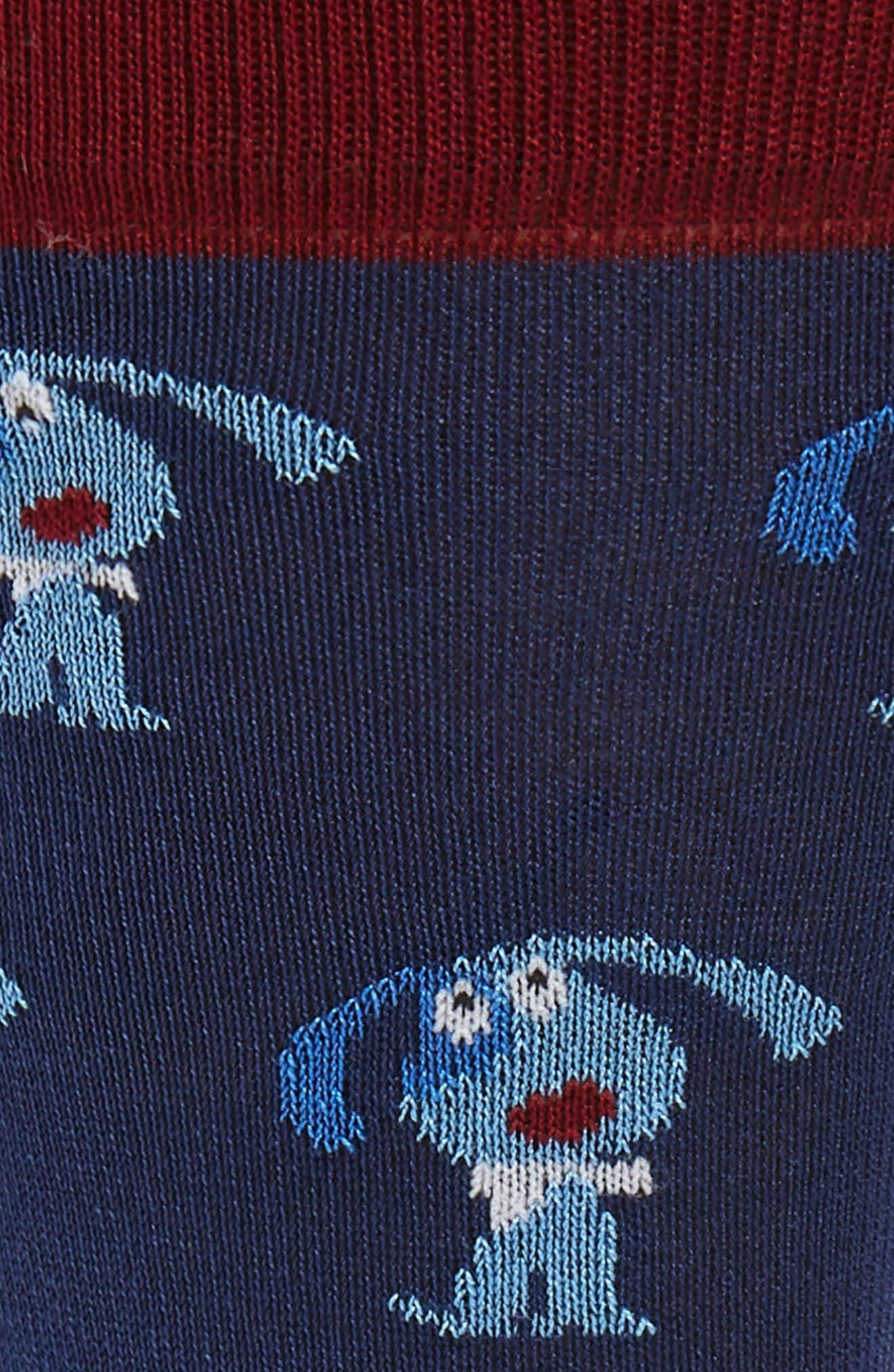 Dog Socks,                             Alternate thumbnail 2, color,                             NAVY