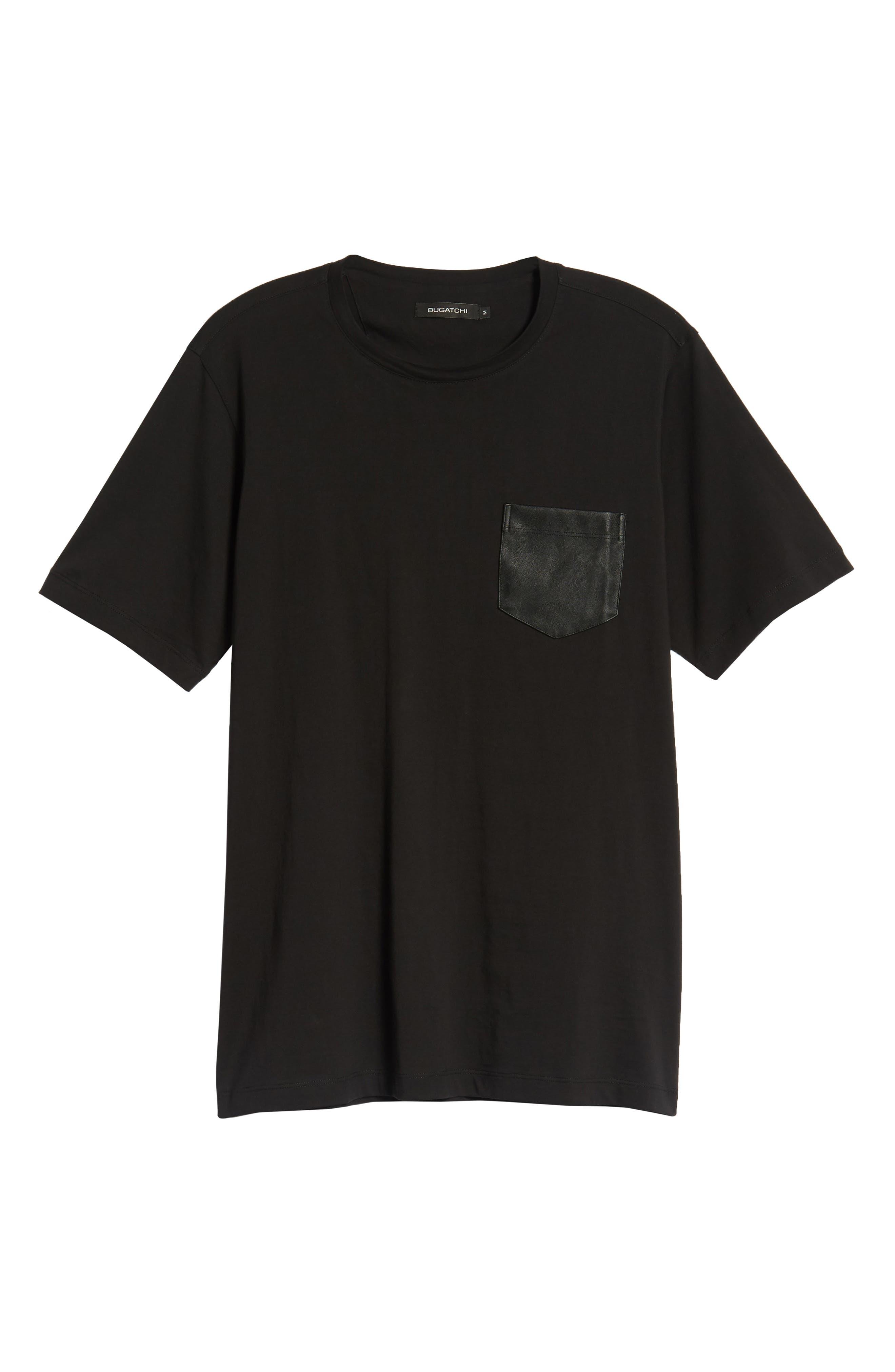 Crewneck T-Shirt,                             Alternate thumbnail 6, color,                             BLACK