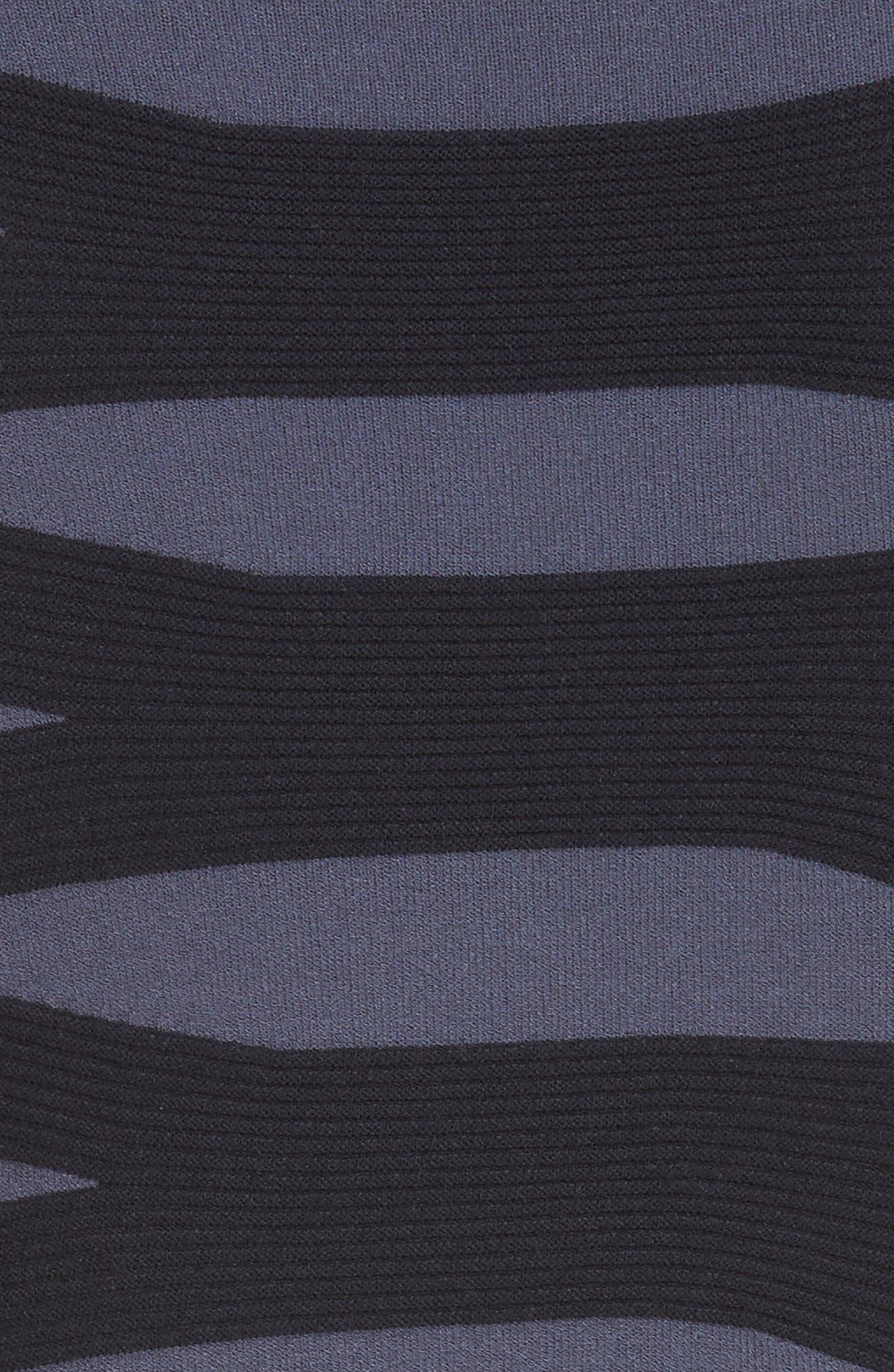 Graphic Stripe Knit Dress,                             Alternate thumbnail 5, color,