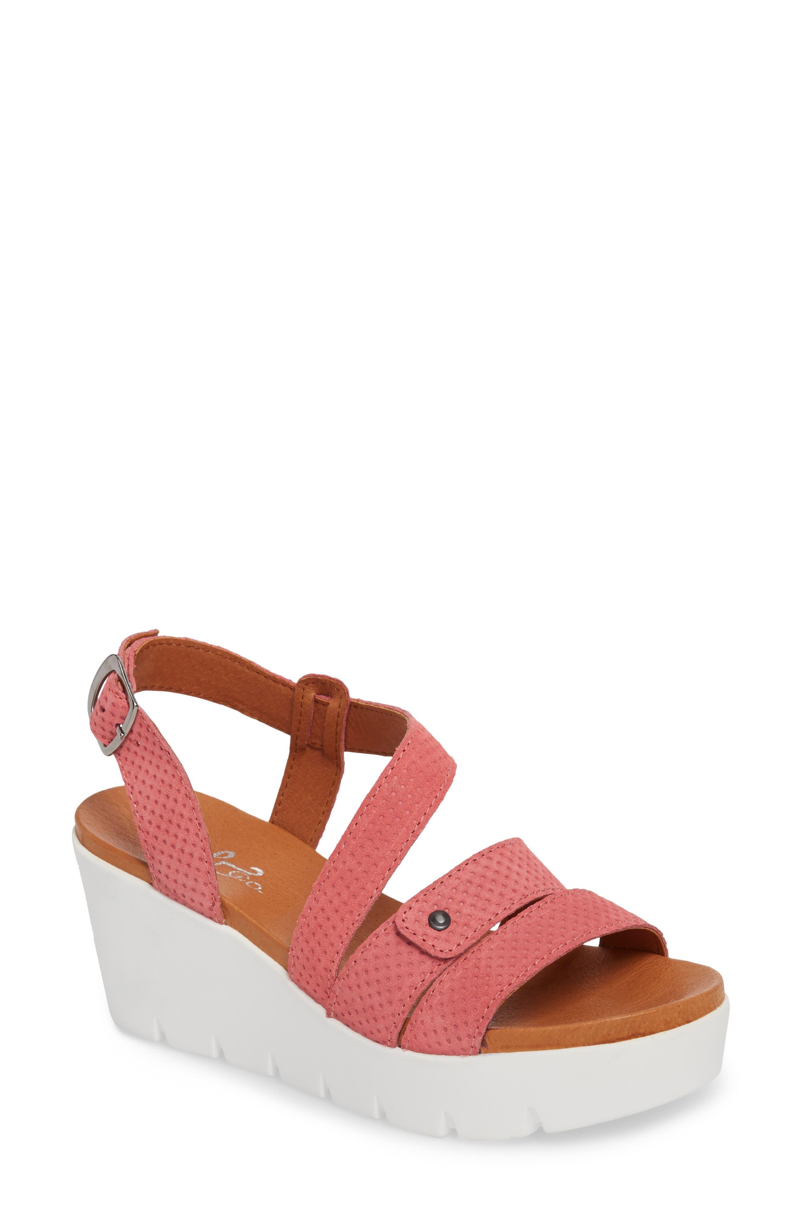 Bos. & Co. Sierra Platform Wedge Sandal, Pink