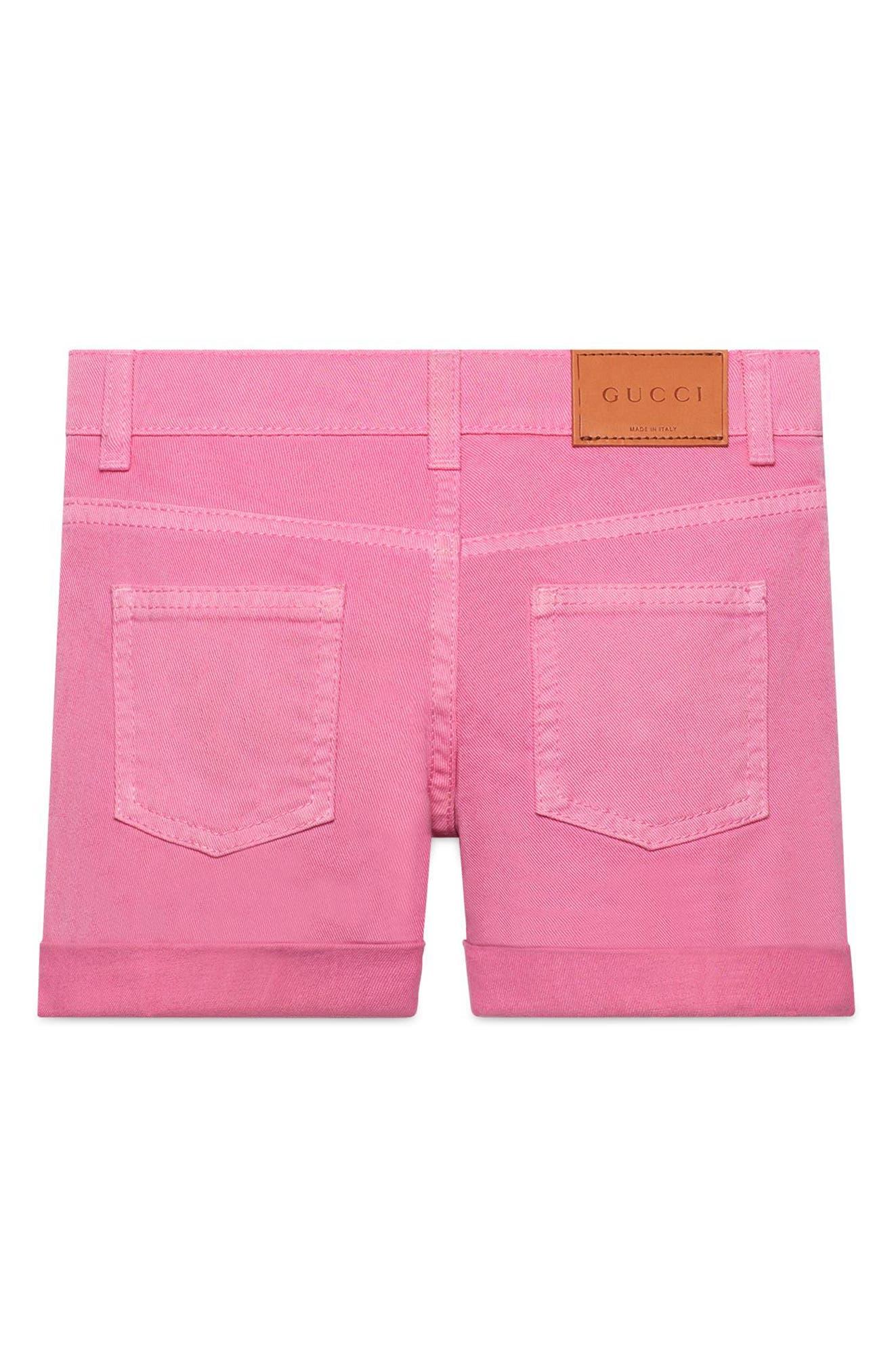 Pink Denim Cuffed Shorts,                             Alternate thumbnail 2, color,                             COPPER/ ROSE