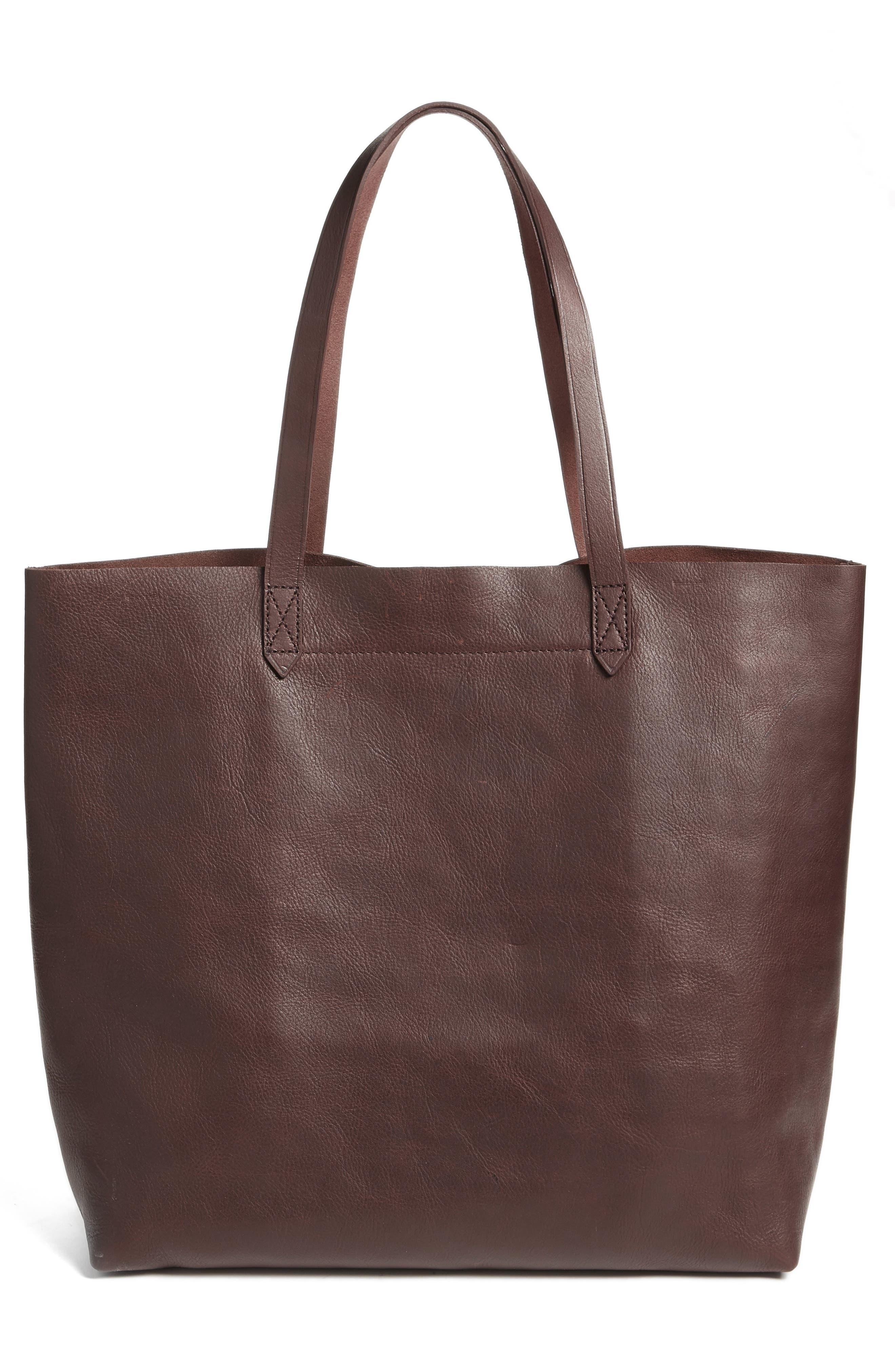 Transport Leather Tote,                             Alternate thumbnail 3, color,                             606