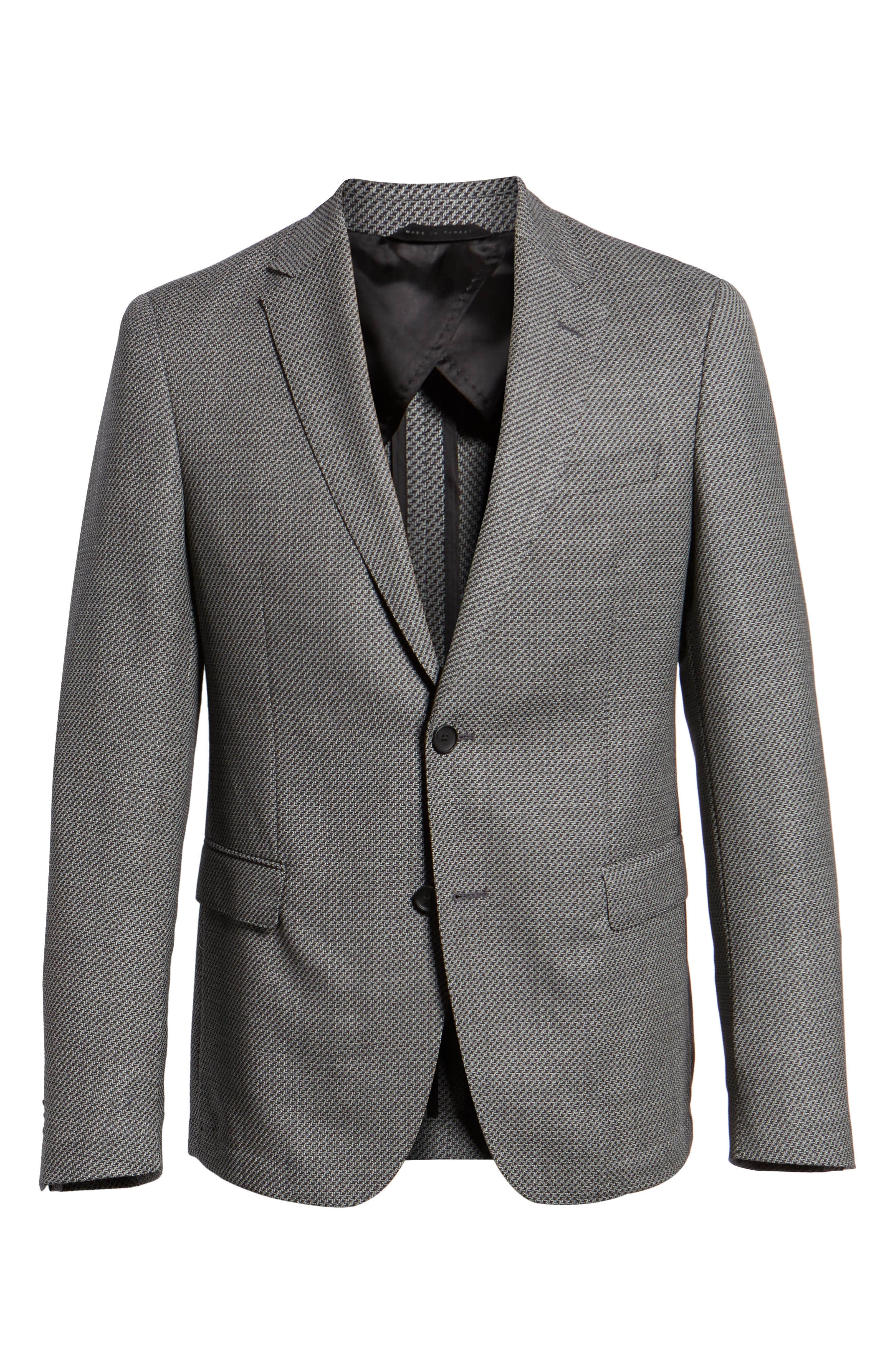 Nobis Trim Fit Houndstooth Wool Sport Coat,                             Alternate thumbnail 5, color,