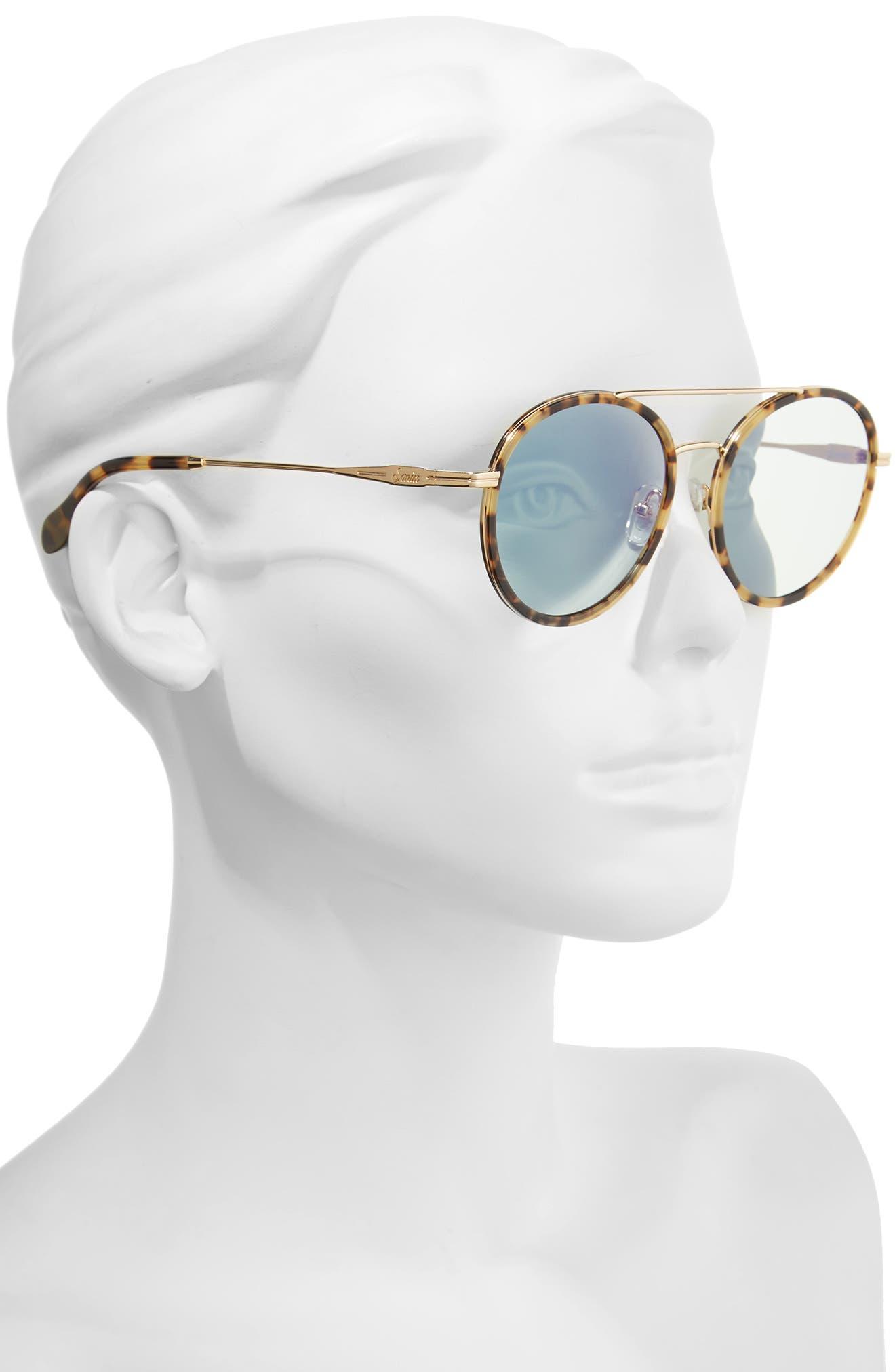 Charli 50mm Mirrored Lens Round Sunglasses,                             Alternate thumbnail 7, color,