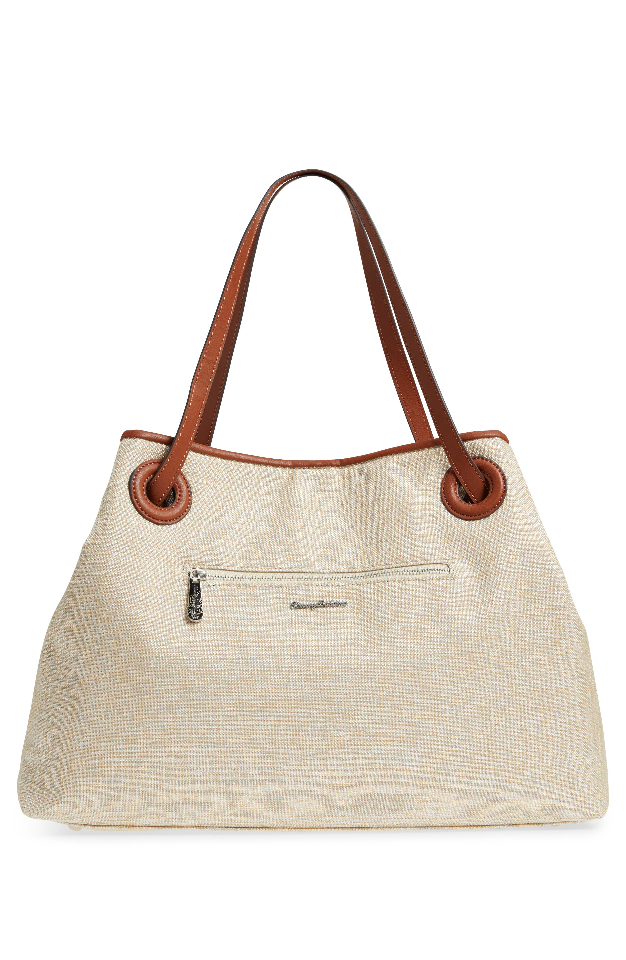 Waikiki Embroidered Canvas Tote,                             Alternate thumbnail 9, color,