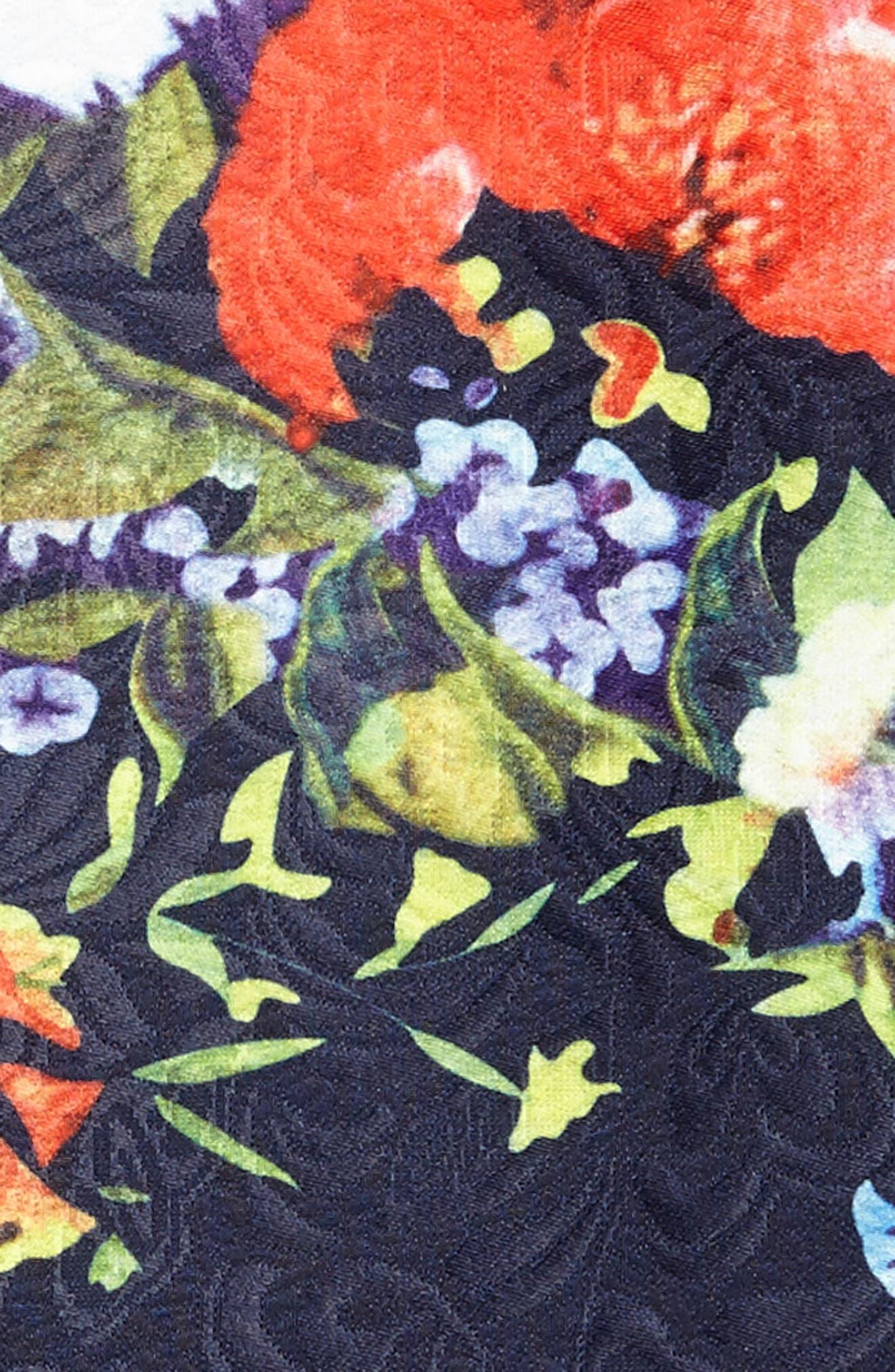 Floral Jacquard Dress,                             Alternate thumbnail 3, color,                             400