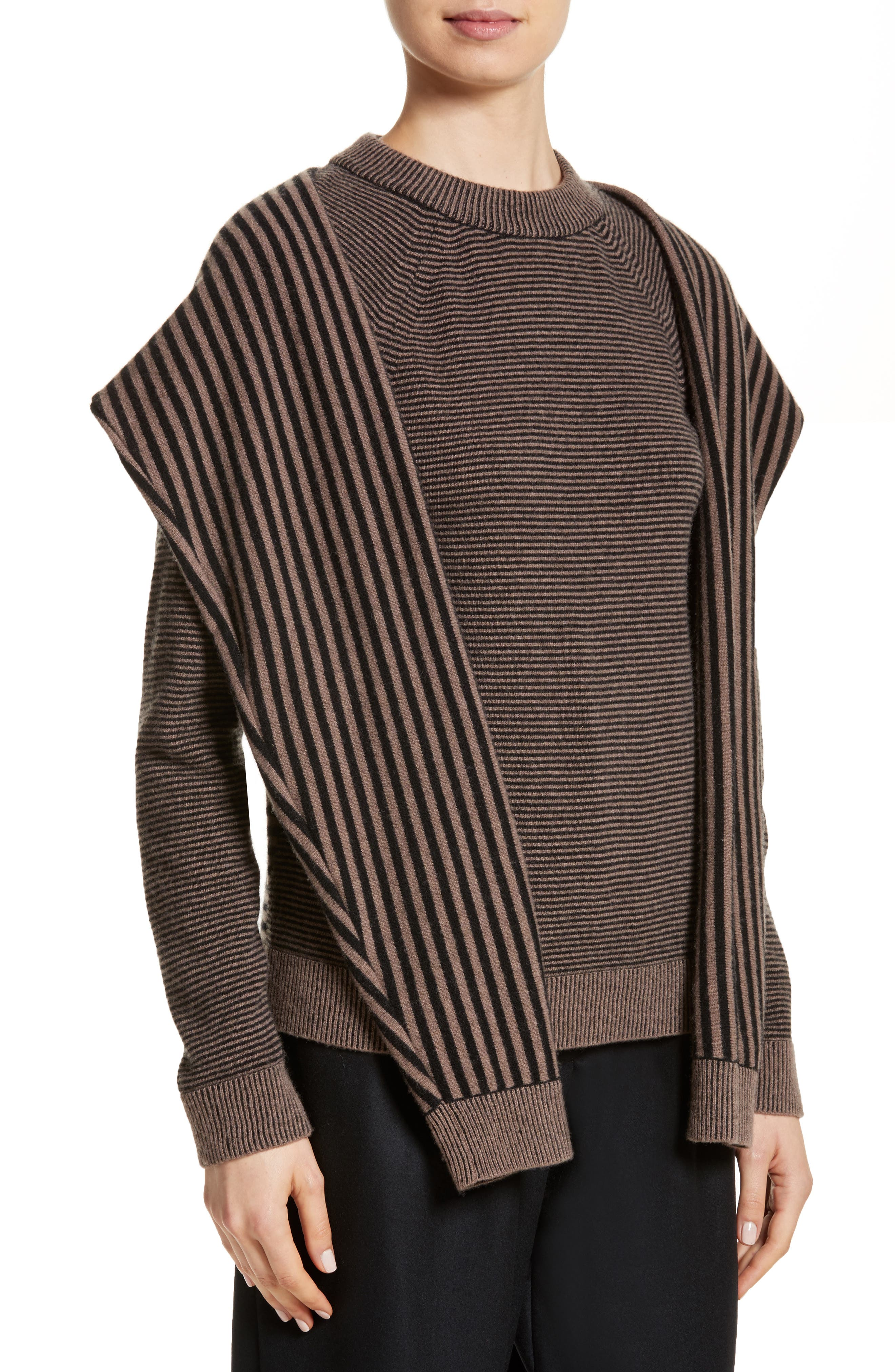 Trompe L'Oeil Sweater,                             Alternate thumbnail 4, color,