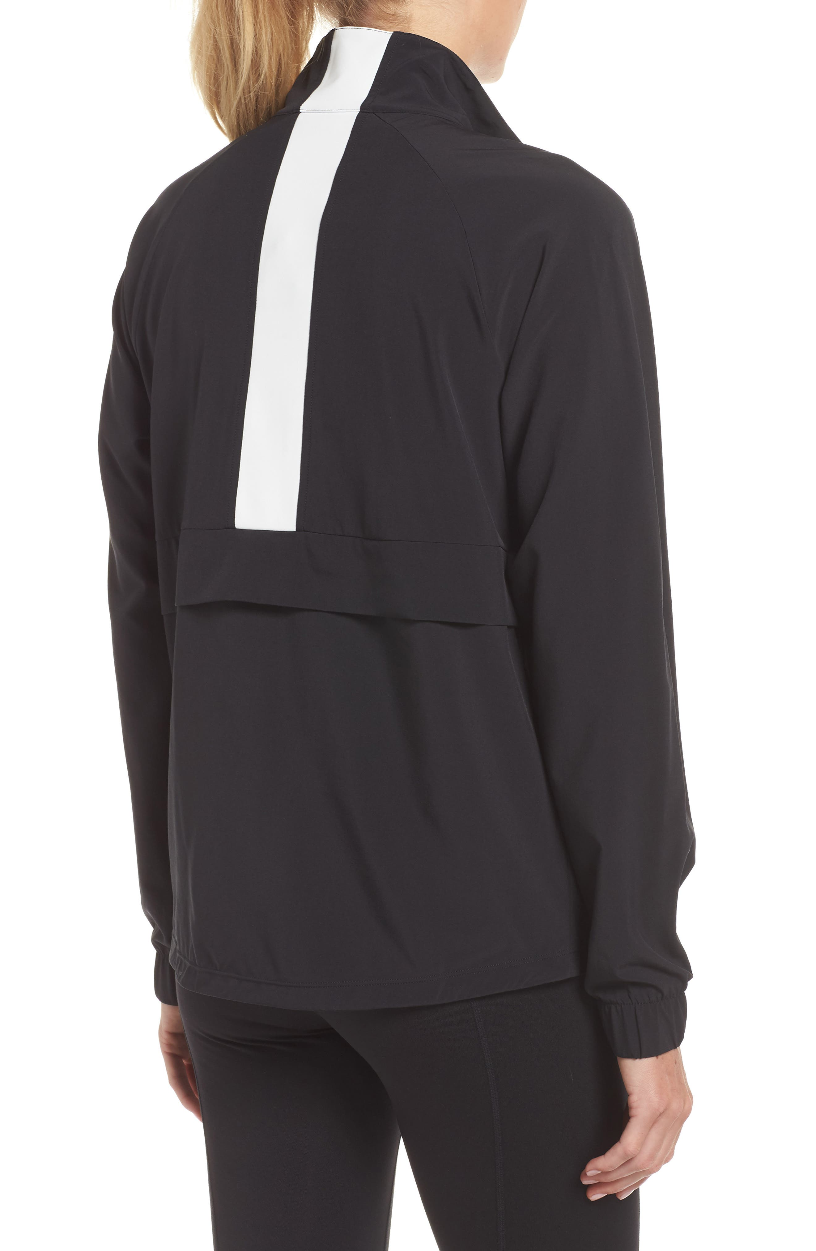 Freestyle Reflective Run Pullover,                             Alternate thumbnail 2, color,                             BLACK