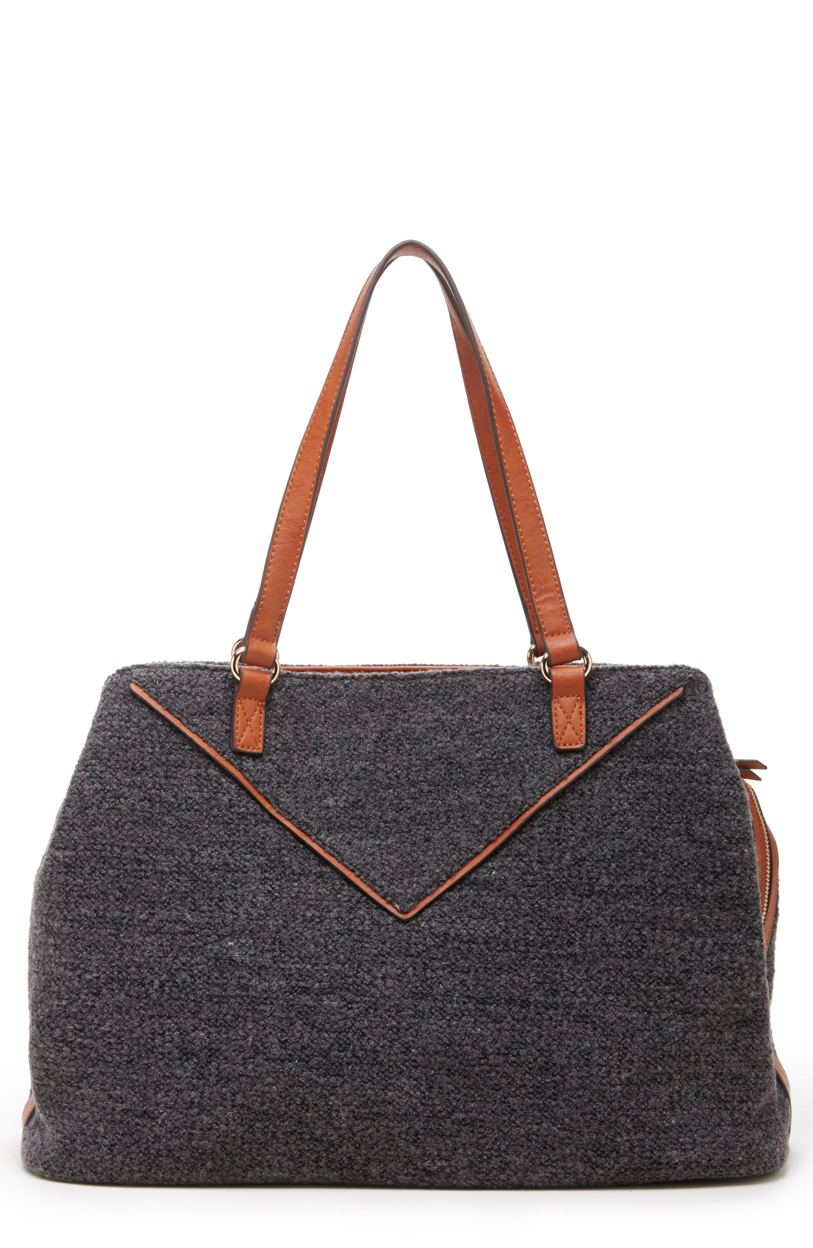 Ginny Woven Tote,                             Main thumbnail 1, color,                             GREY FLANNEL