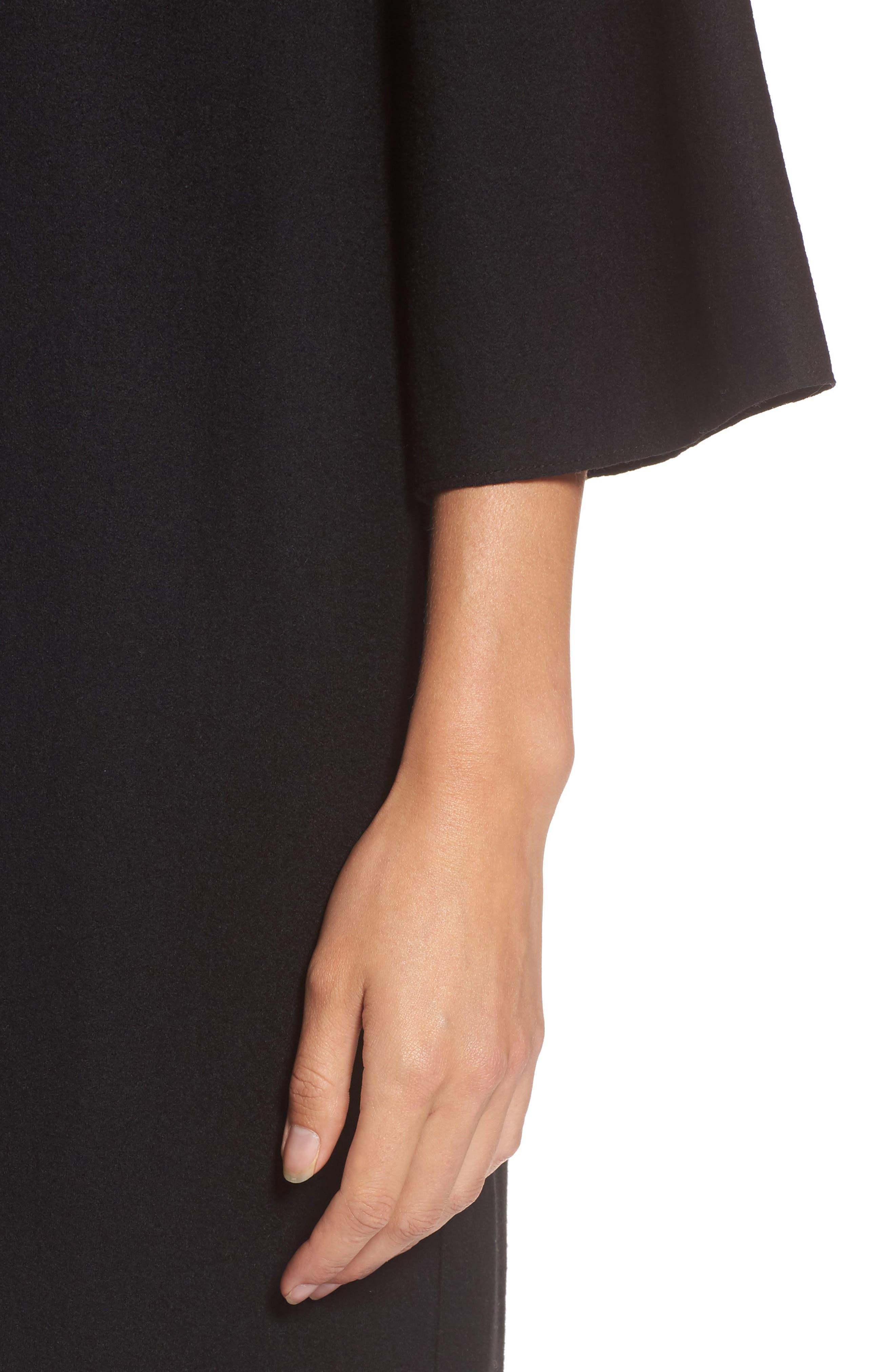Bell Sleeve Dress,                             Alternate thumbnail 4, color,                             001