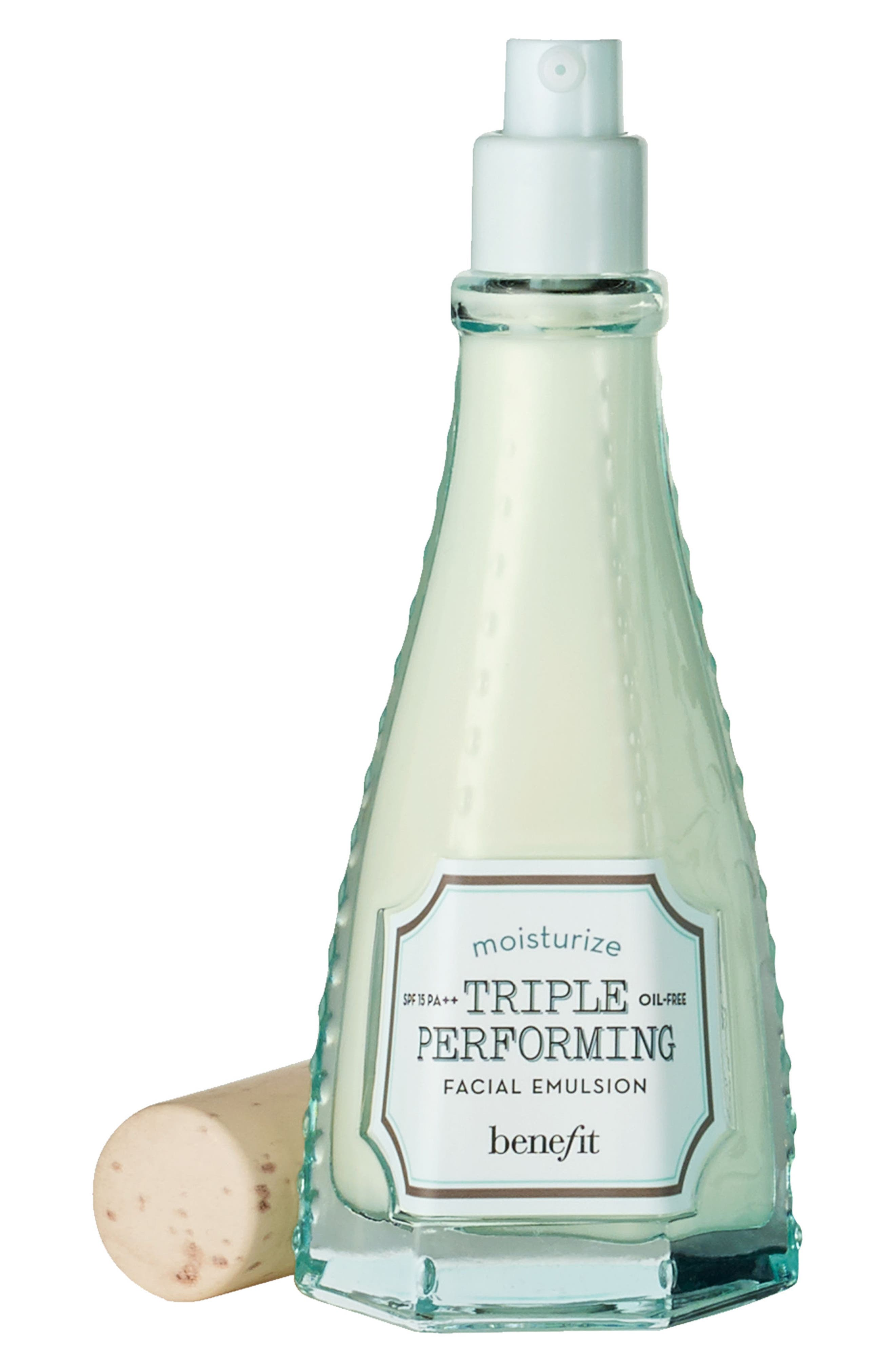 Benefit Triple Performing Facial Emulsion SPF 15,                             Main thumbnail 1, color,                             NO COLOR