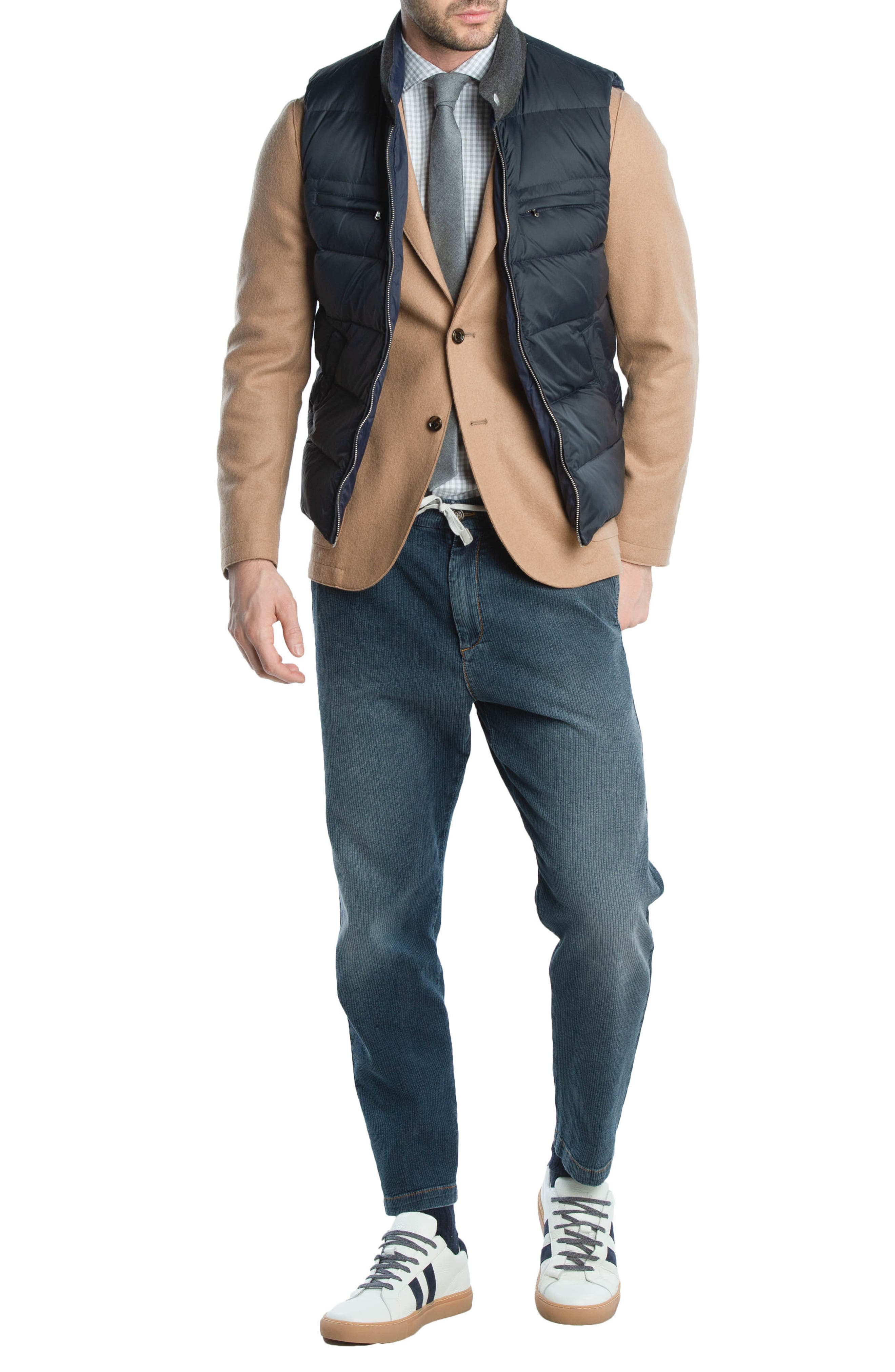Quilted Vest,                             Alternate thumbnail 8, color,                             NAVY